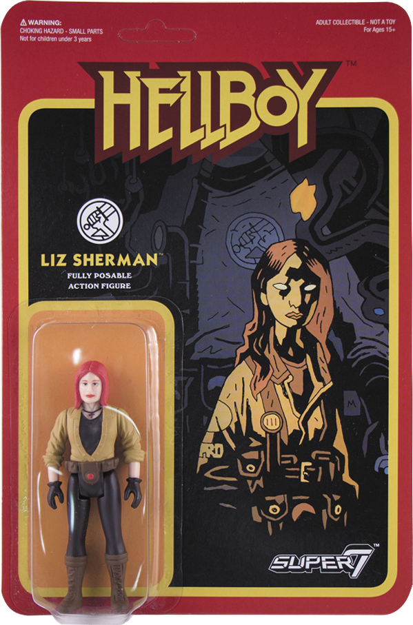 REACTION HELLBOY LIZ SHERMAN ACTION FIGURE WAVE 1