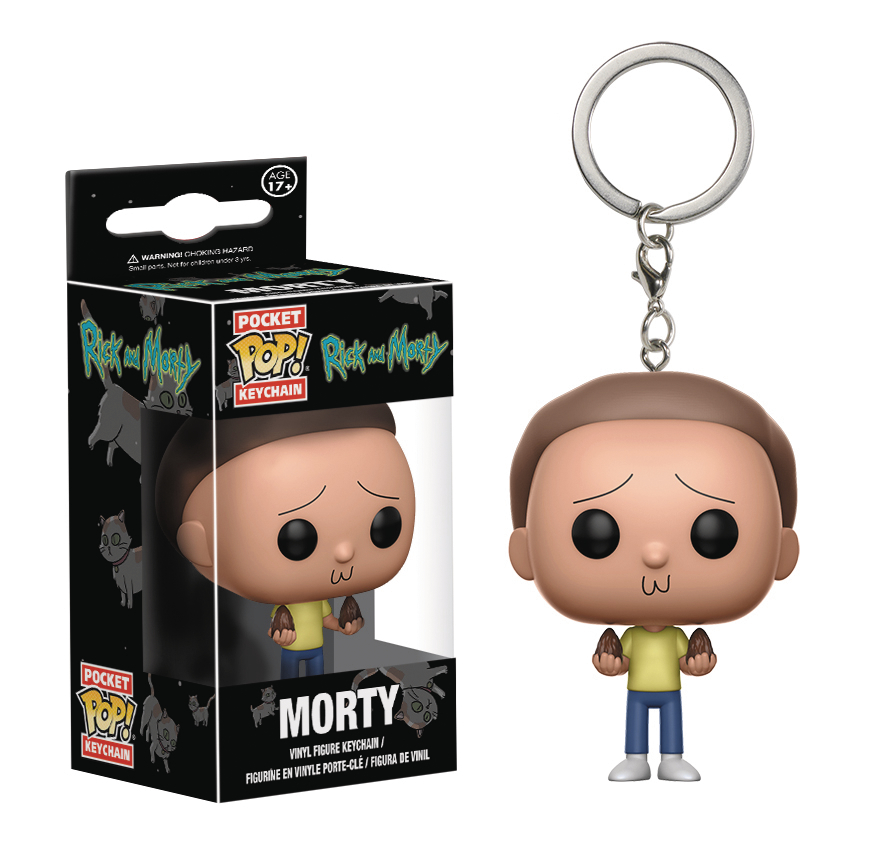 POCKET POP RICK & MORTY MORTY VIN FIG KEYCHAIN