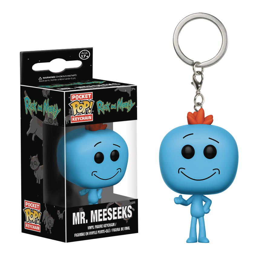 POCKET POP RICK & MORTY MEESEEKS VIN FIG KEYCHAIN