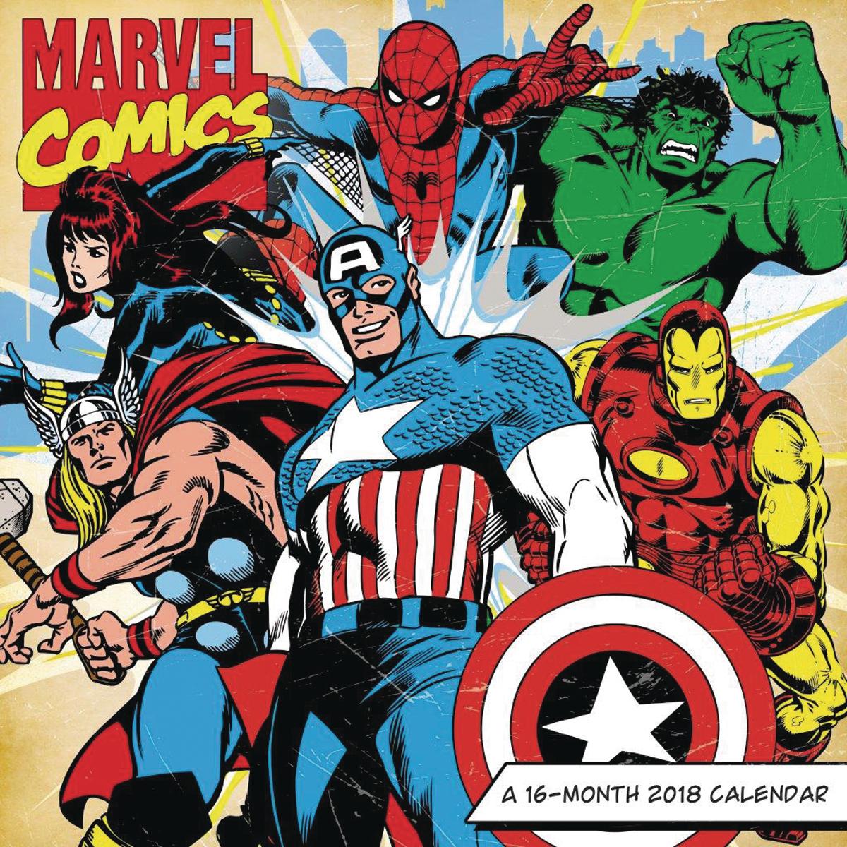 Free Comic Book Day Wallpaper: MARVEL COMICS RETRO 16 MONTH 2018 WALL