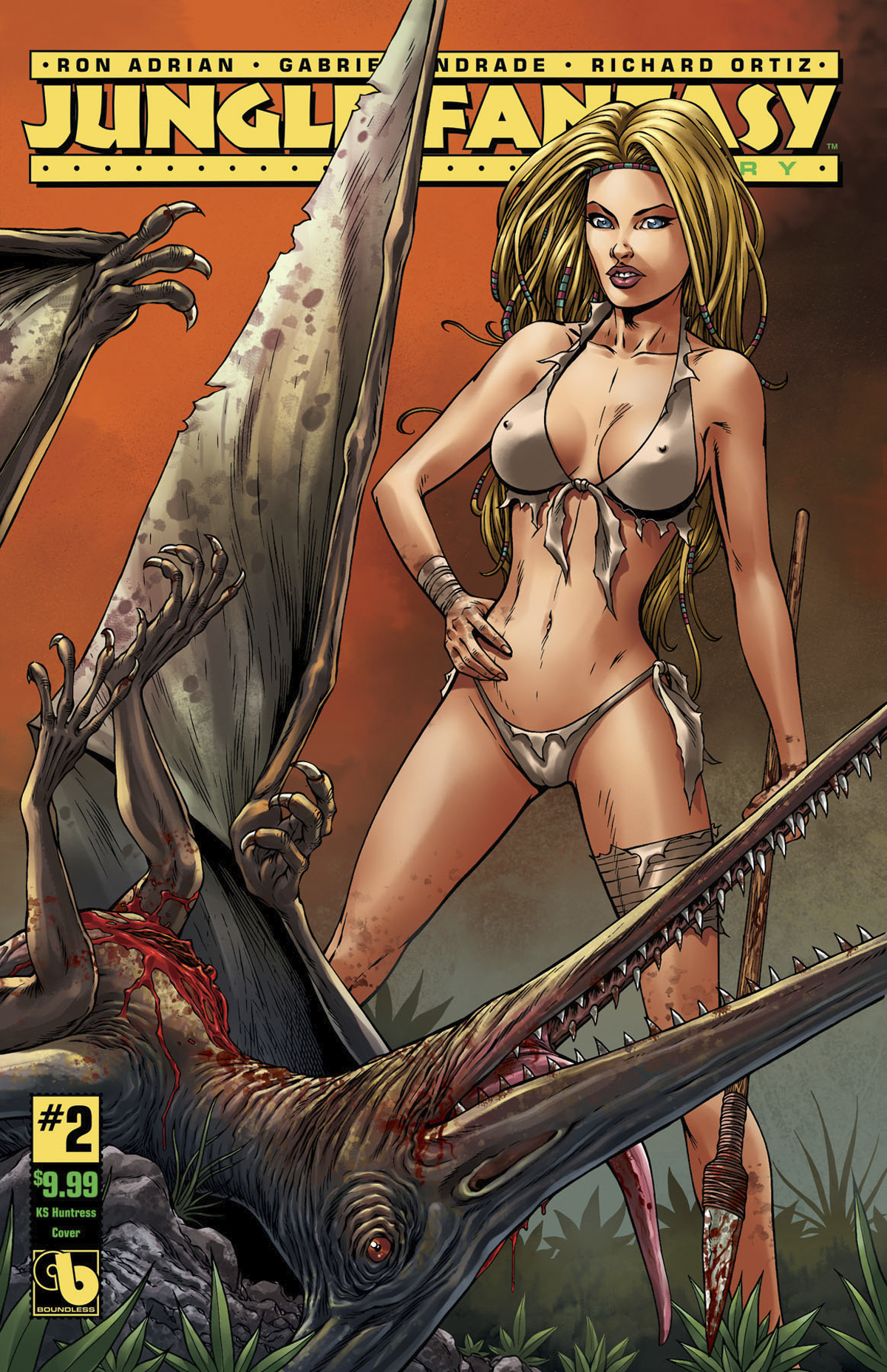 JUNGLE FANTASY IVORY #2 HUNTRESS CVR