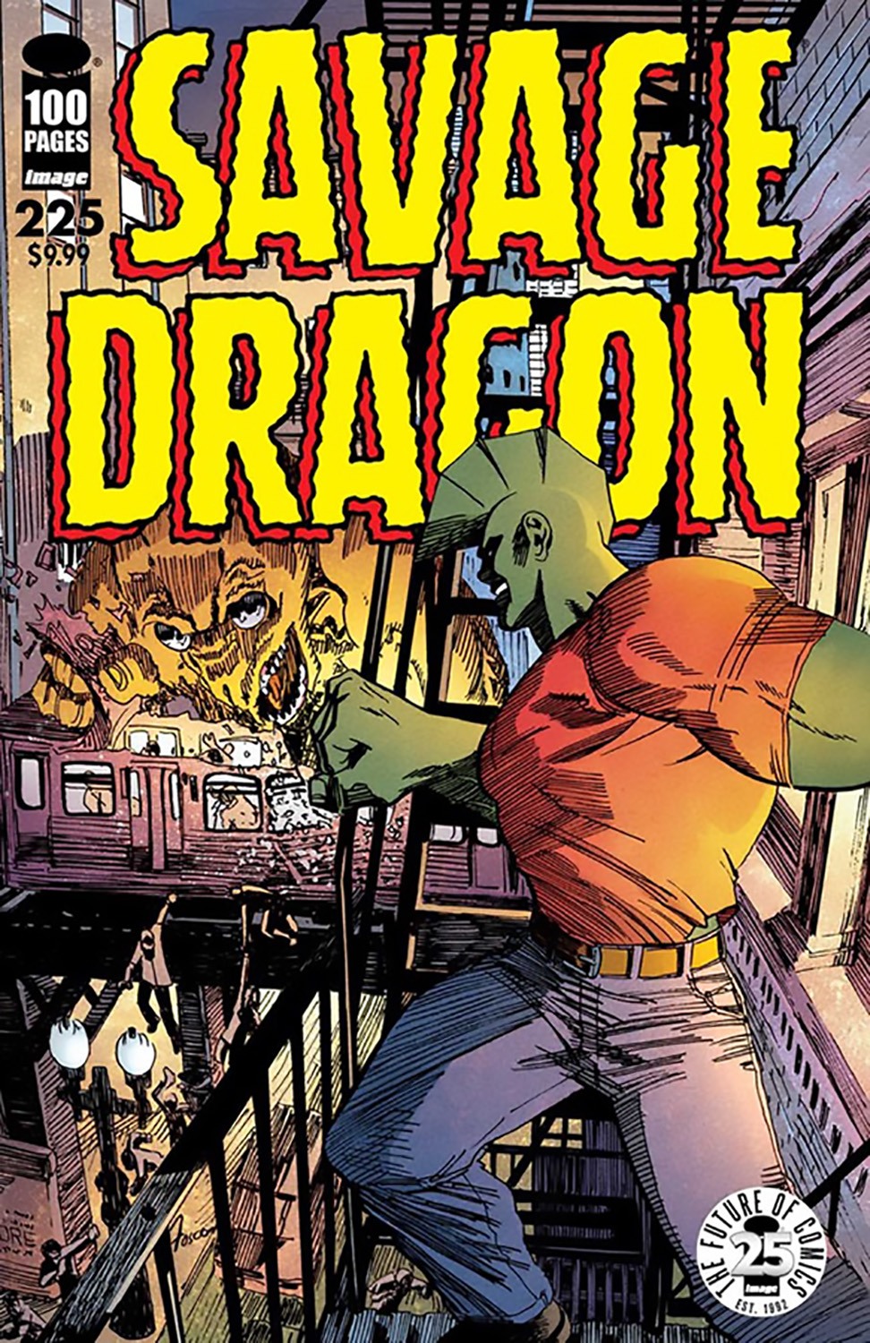 SAVAGE DRAGON #225 25TH ANNIVERSARY CVR B FOSCO