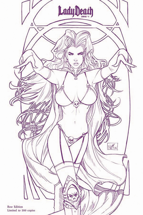 LADY DEATH ZODIAC #1 LTD SGN RAW ED