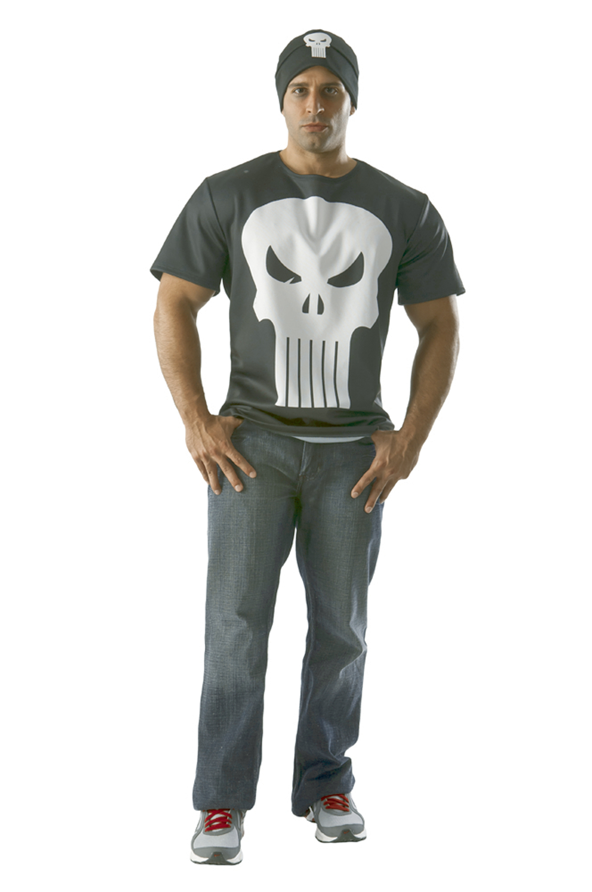 MARVEL PUNISHER T/S W/ BEANIE MED