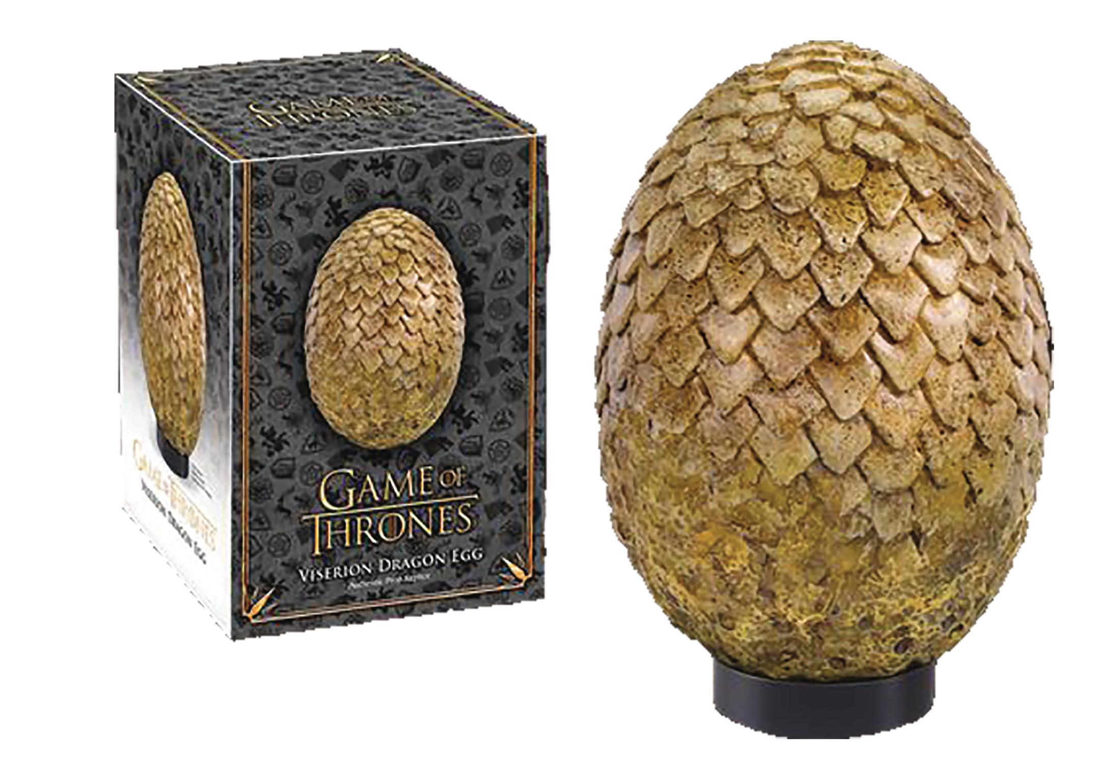 jun173196 game of thrones dragon egg viserion tan. Black Bedroom Furniture Sets. Home Design Ideas