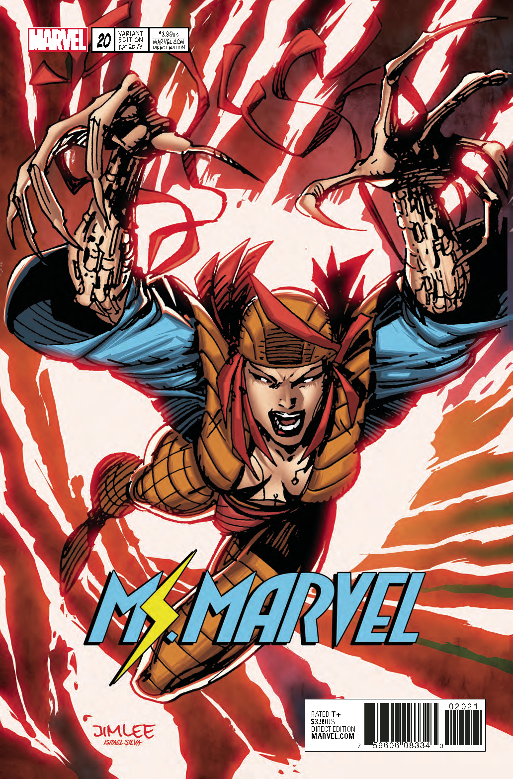 MS MARVEL #20 X-MEN CARD VAR