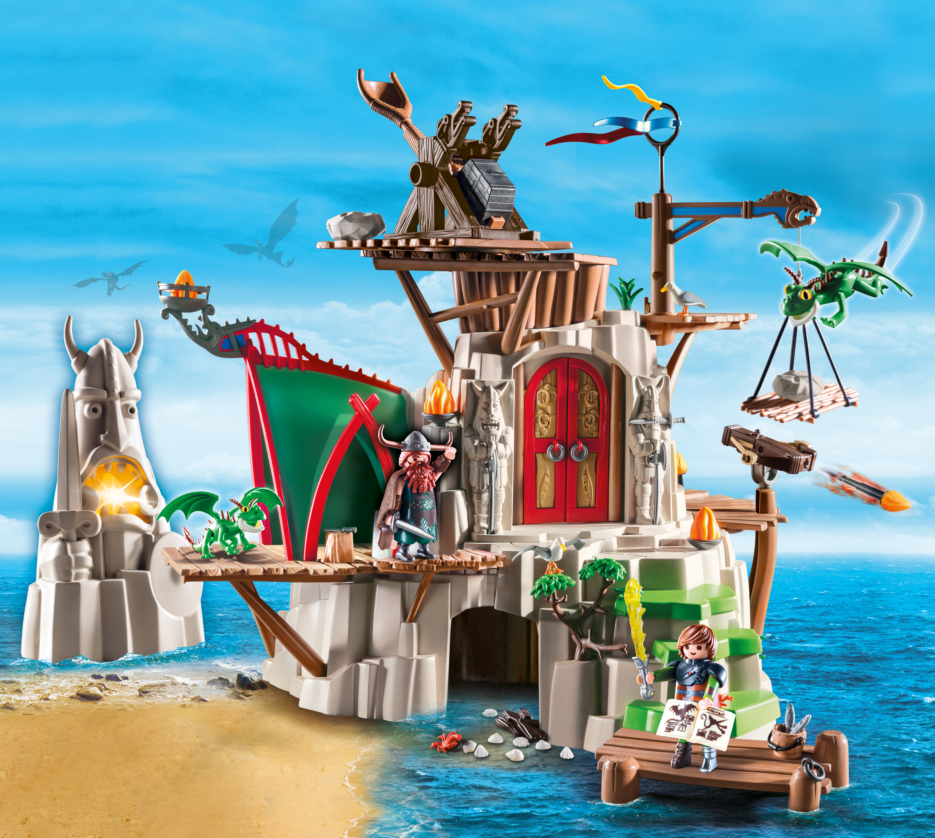 PLAYMOBIL HTTYD DRAGON KNIGHT FORTRESS PLAY-SET