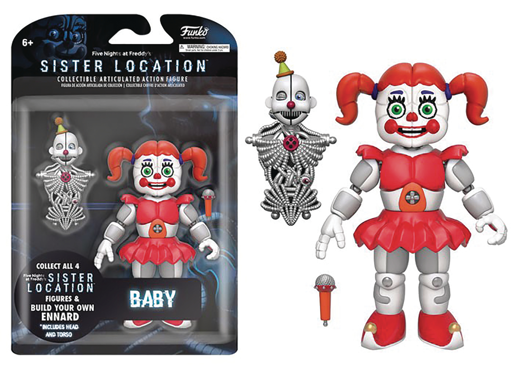 FIVE NIGHTS SISTER LOCATION BABY 5IN ACTION FIGURE