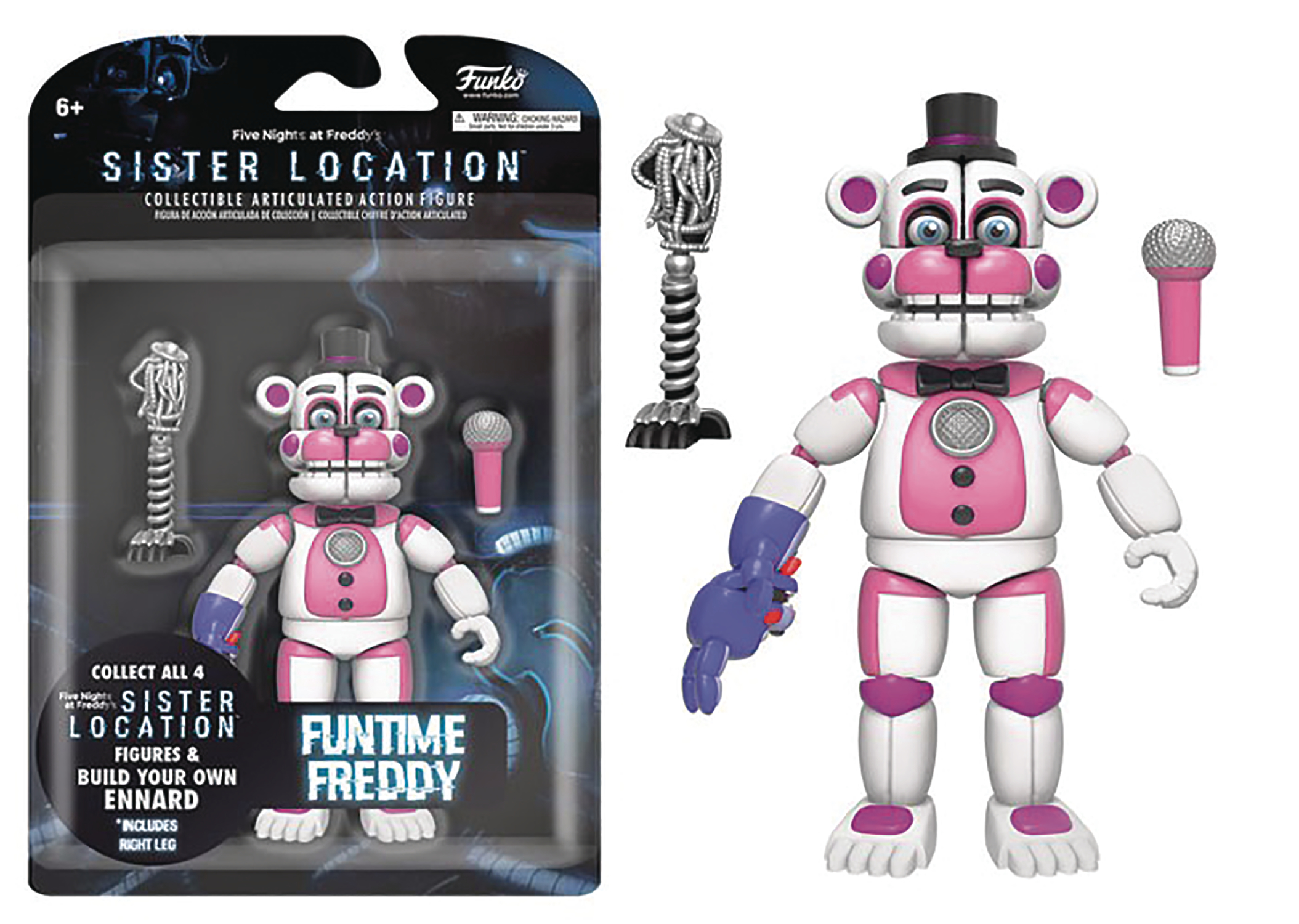FIVE NIGHTS SISTER LOCATION FUNTIME FREDDY 5IN ACTION FIGURE
