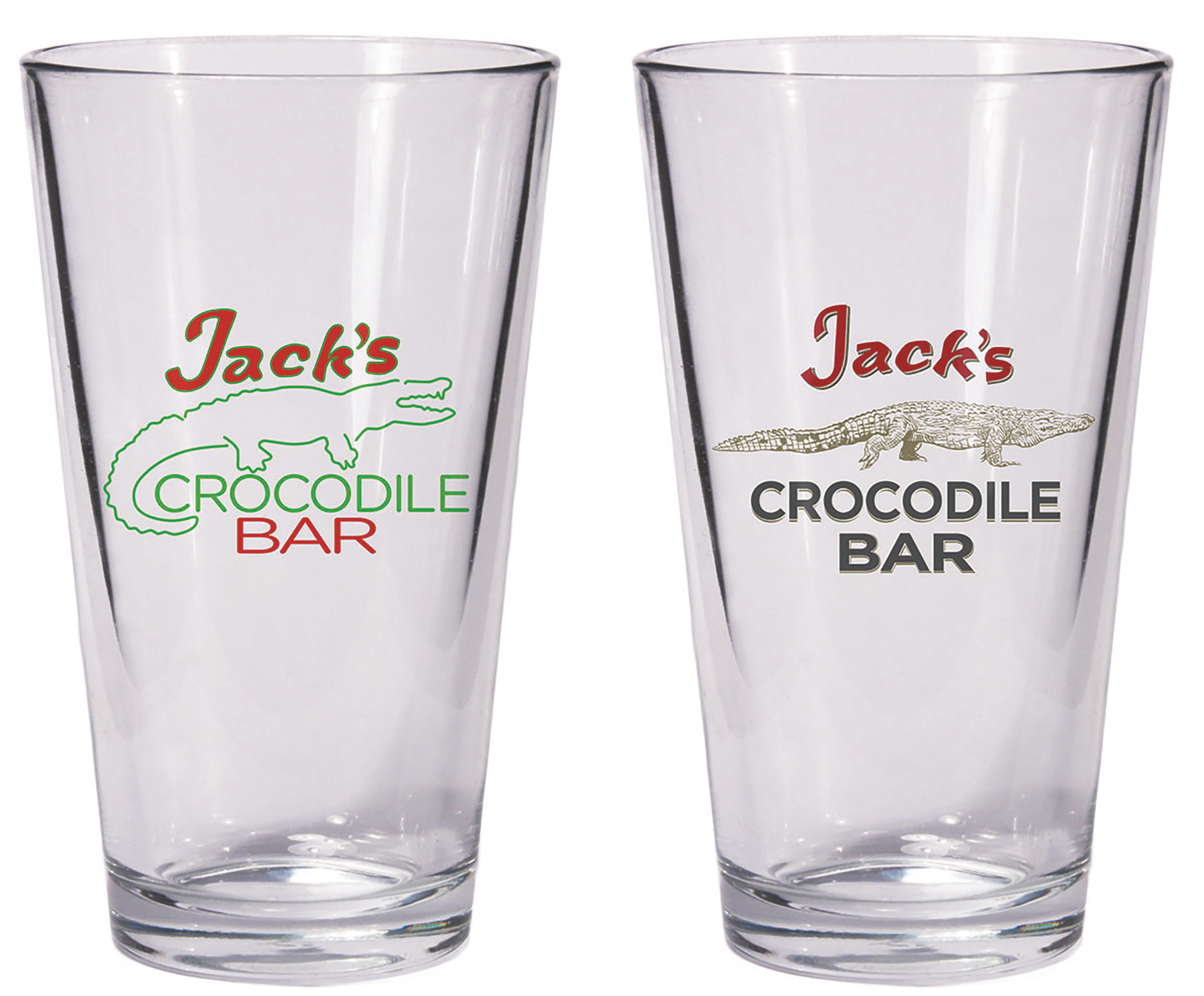 AMERICAN GODS JACKS CROCODILE BAR PINT GLASS SET (JUL180517)