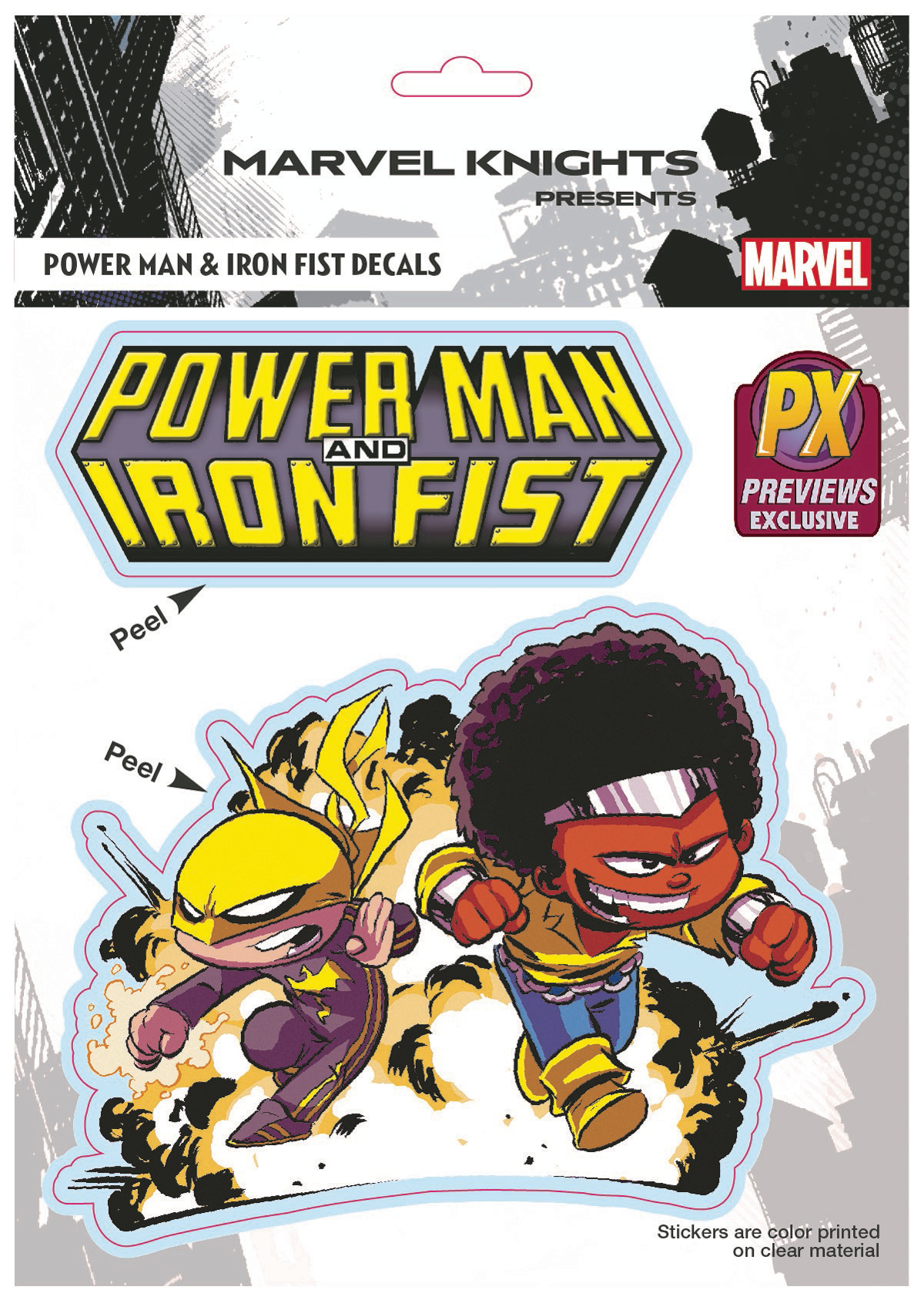 MARVEL IRON FIST & POWER MAN BY YOUNG PX VINYL DECAL