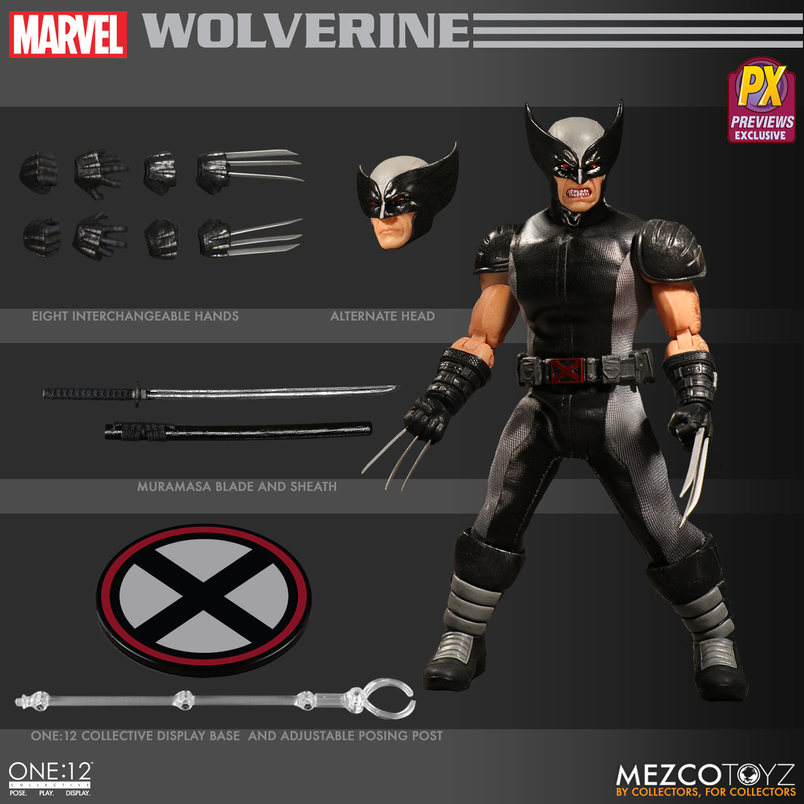 ONE-12 COLLECTIVE MARVEL X-FORCE WOLVERINE PX AF