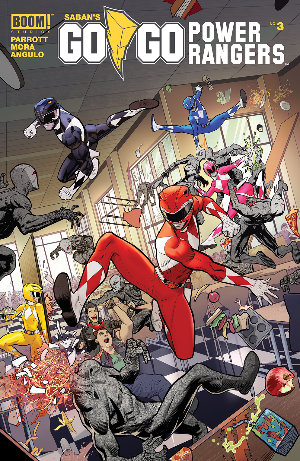 GO GO POWER RANGERS #3 MAIN & MIX