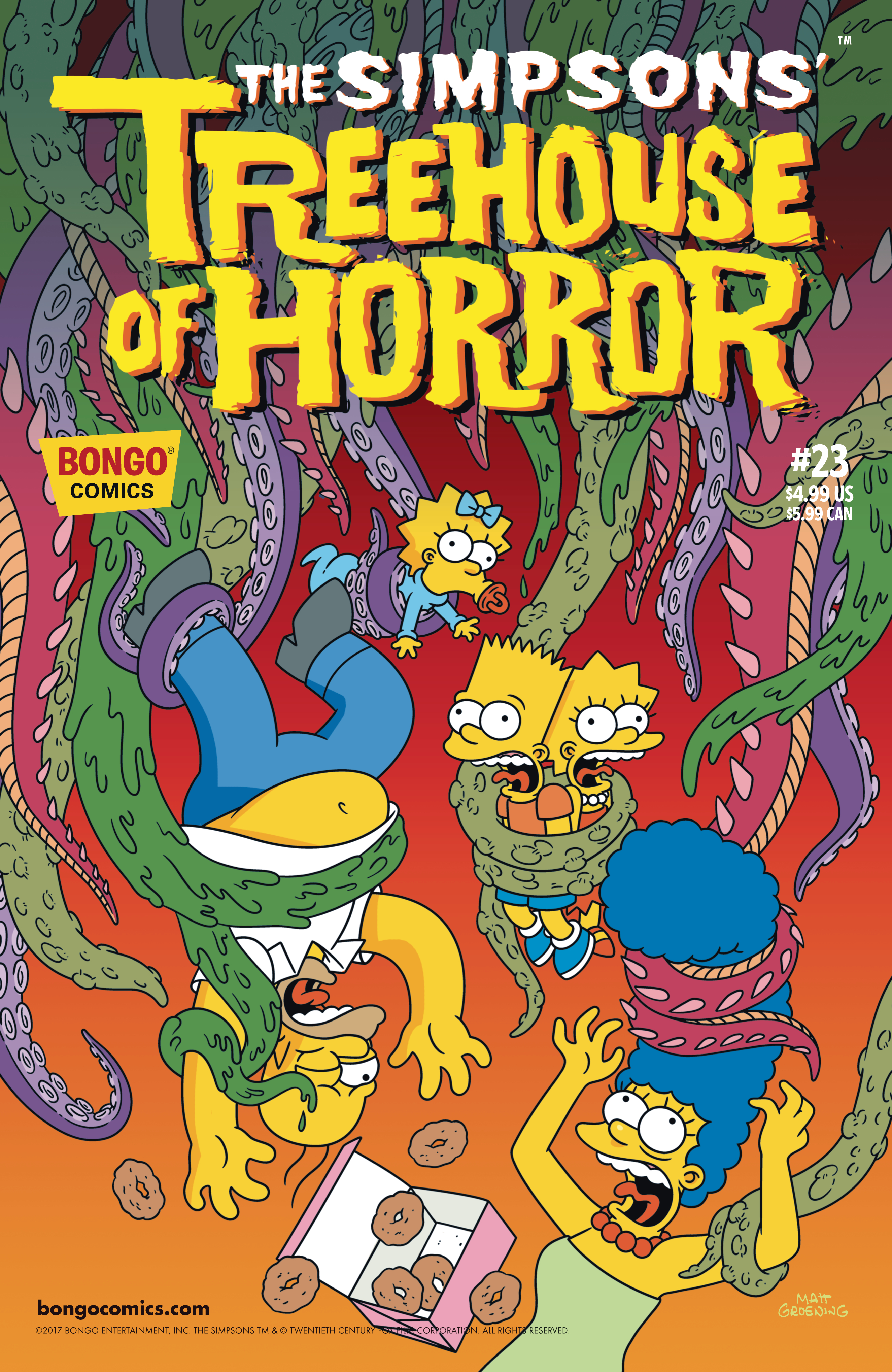Halloween Simpsons Treehouse Of Horror.Jul171467 Simpsons Treehouse Of Horror 23 Previews World