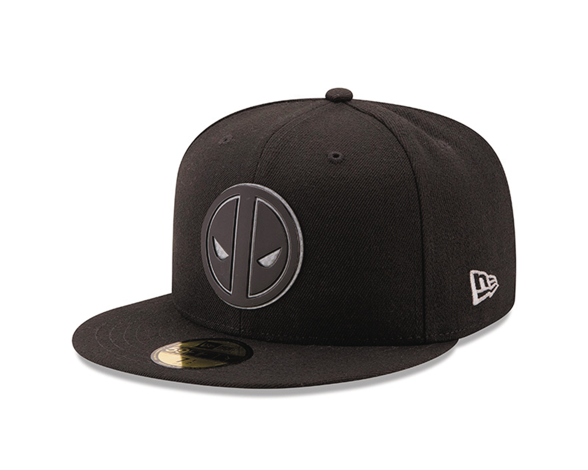 DEADPOOL LOGO HEXSHINE 5950 FITTED CAP 7 5/8