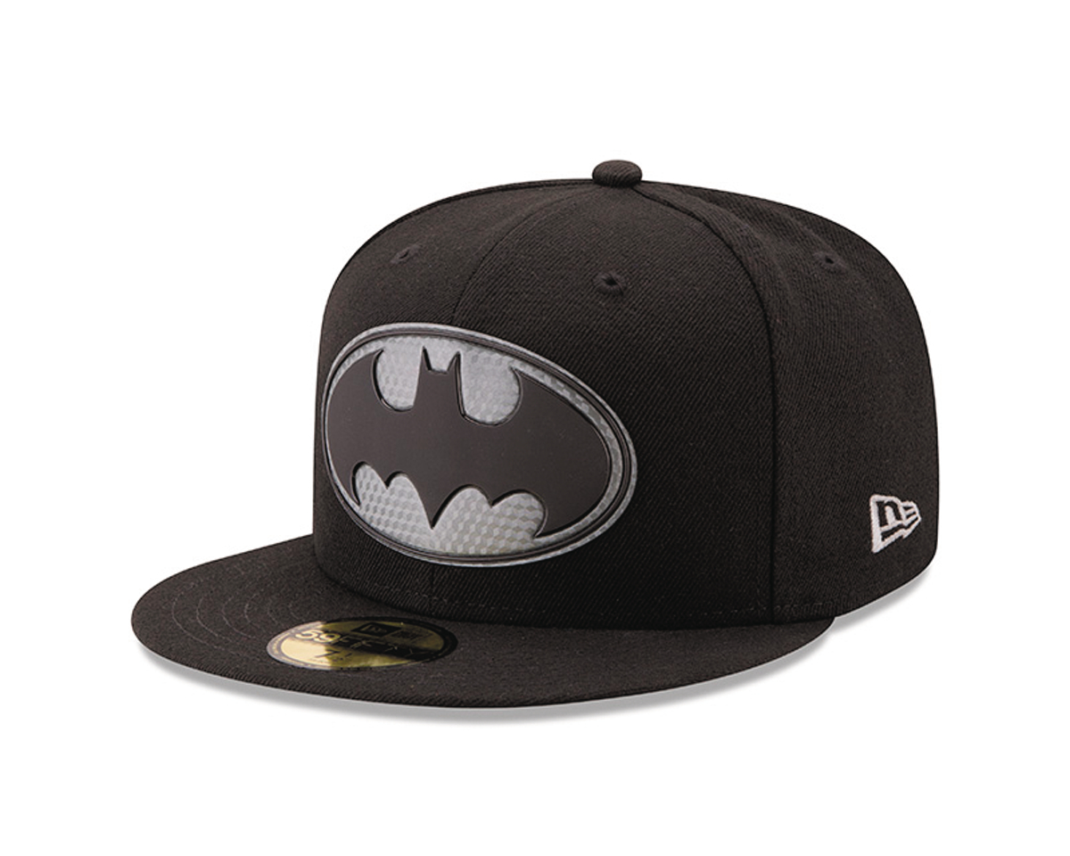 BATMAN LOGO HEXSHINE 5950 FITTED CAP 7 1/2