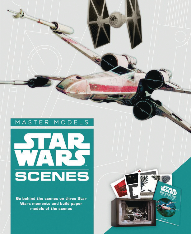 JUL172473 - STAR WARS SCENES BOOK WITH PAPER MODEL KIT