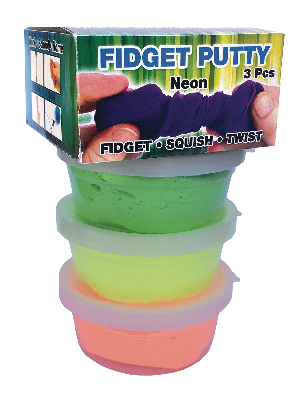 ZORBITZ FIDGET PUTTY NEON COLORS PACK