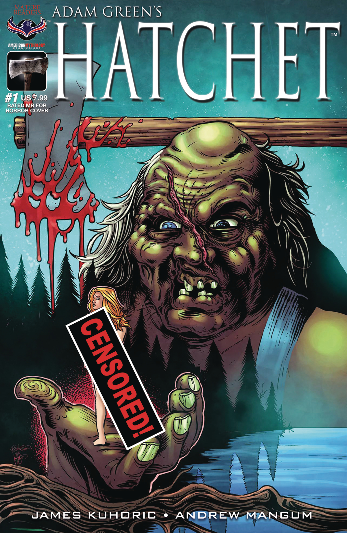 HATCHET #1 RATED MR FOR HORROR LTD ED CVR (O/A) (MR)
