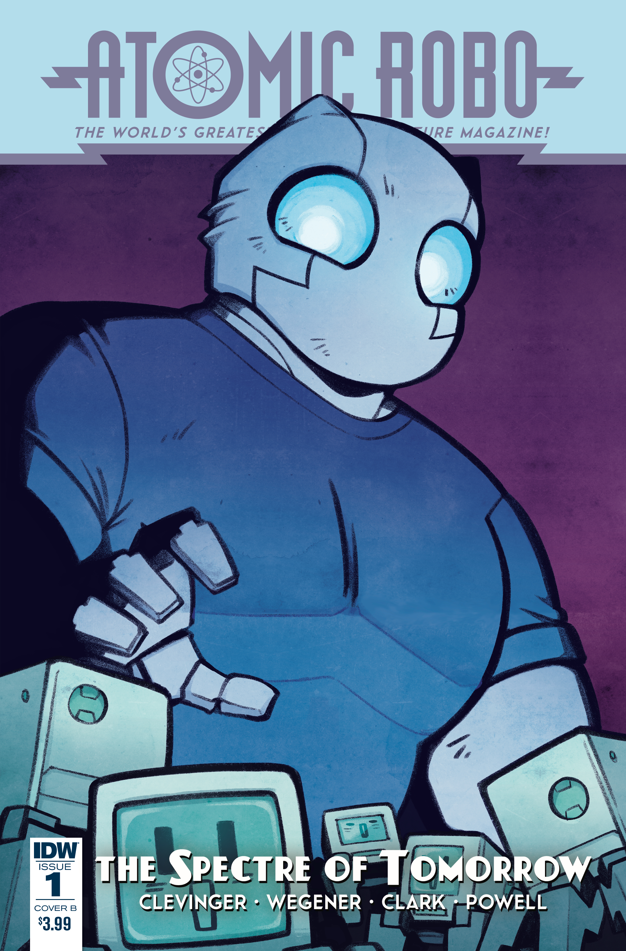 ATOMIC ROBO SPECTRE OF TOMORROW #1 CVR B WIEDLE