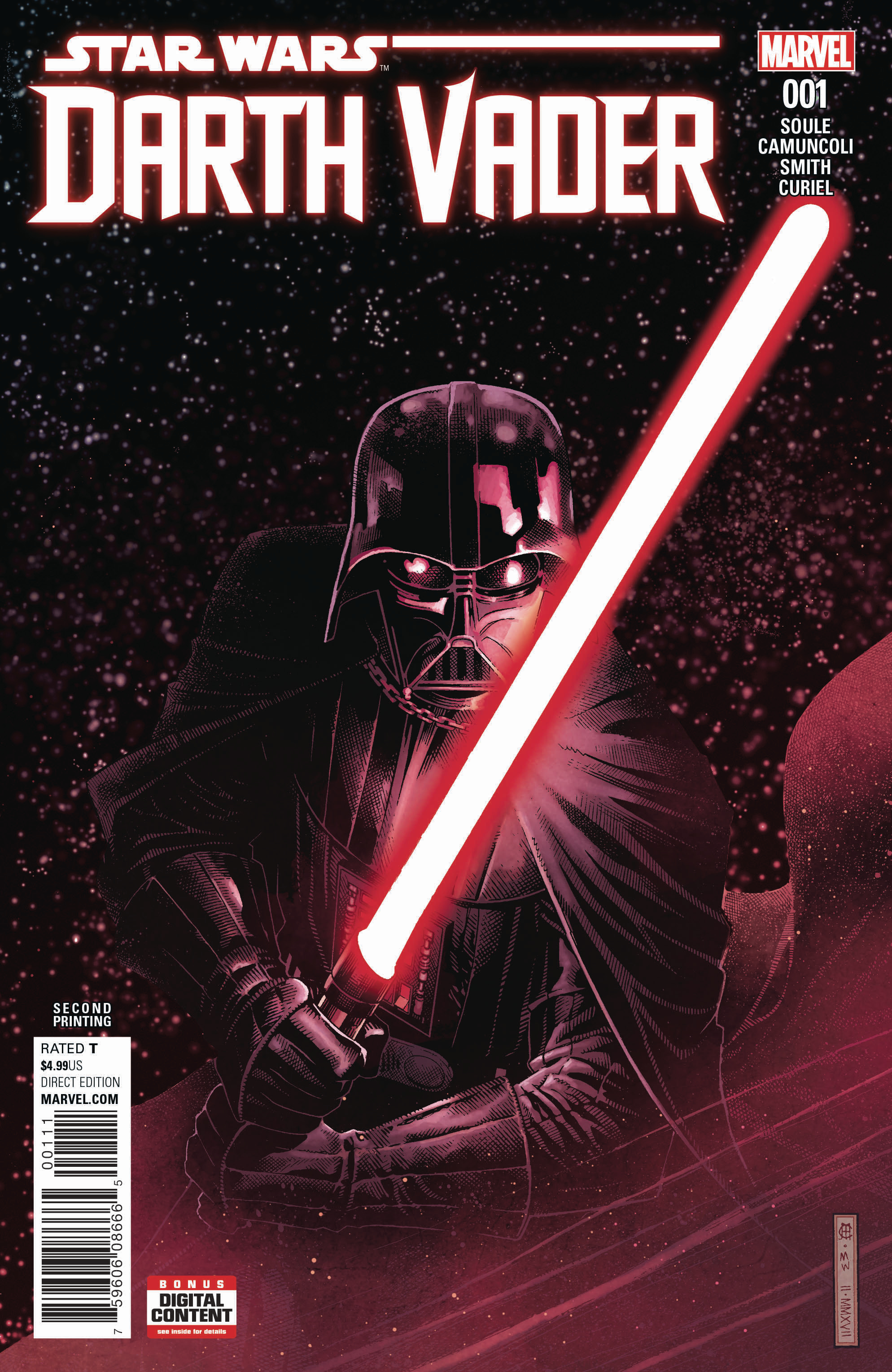 STAR WARS DARTH VADER #1 2ND PTG CHEUNG VAR