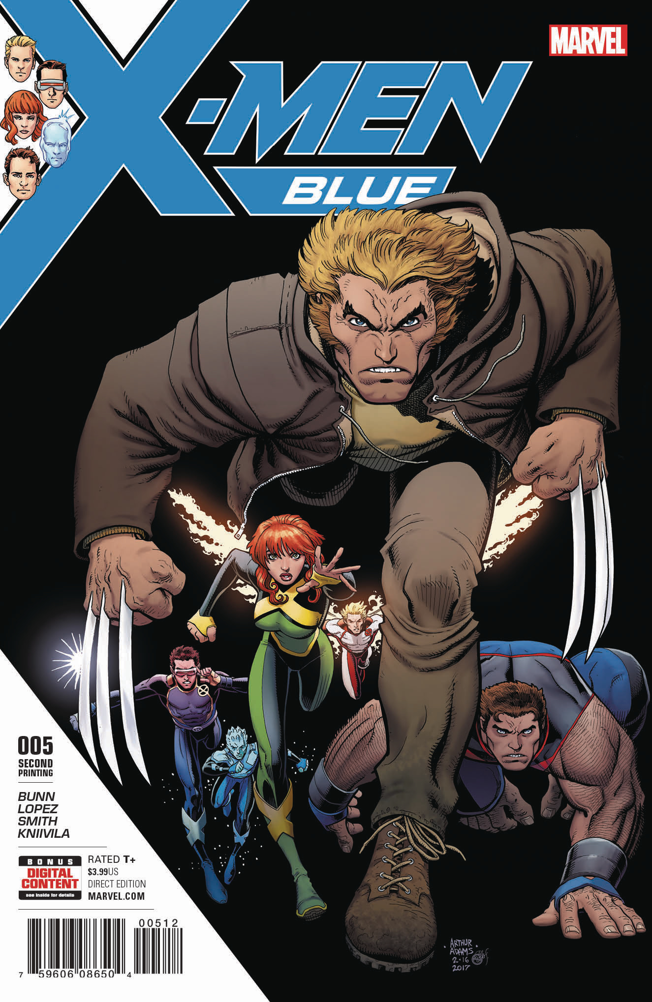 X-MEN BLUE #5 2ND PTG ART ADAMS VAR