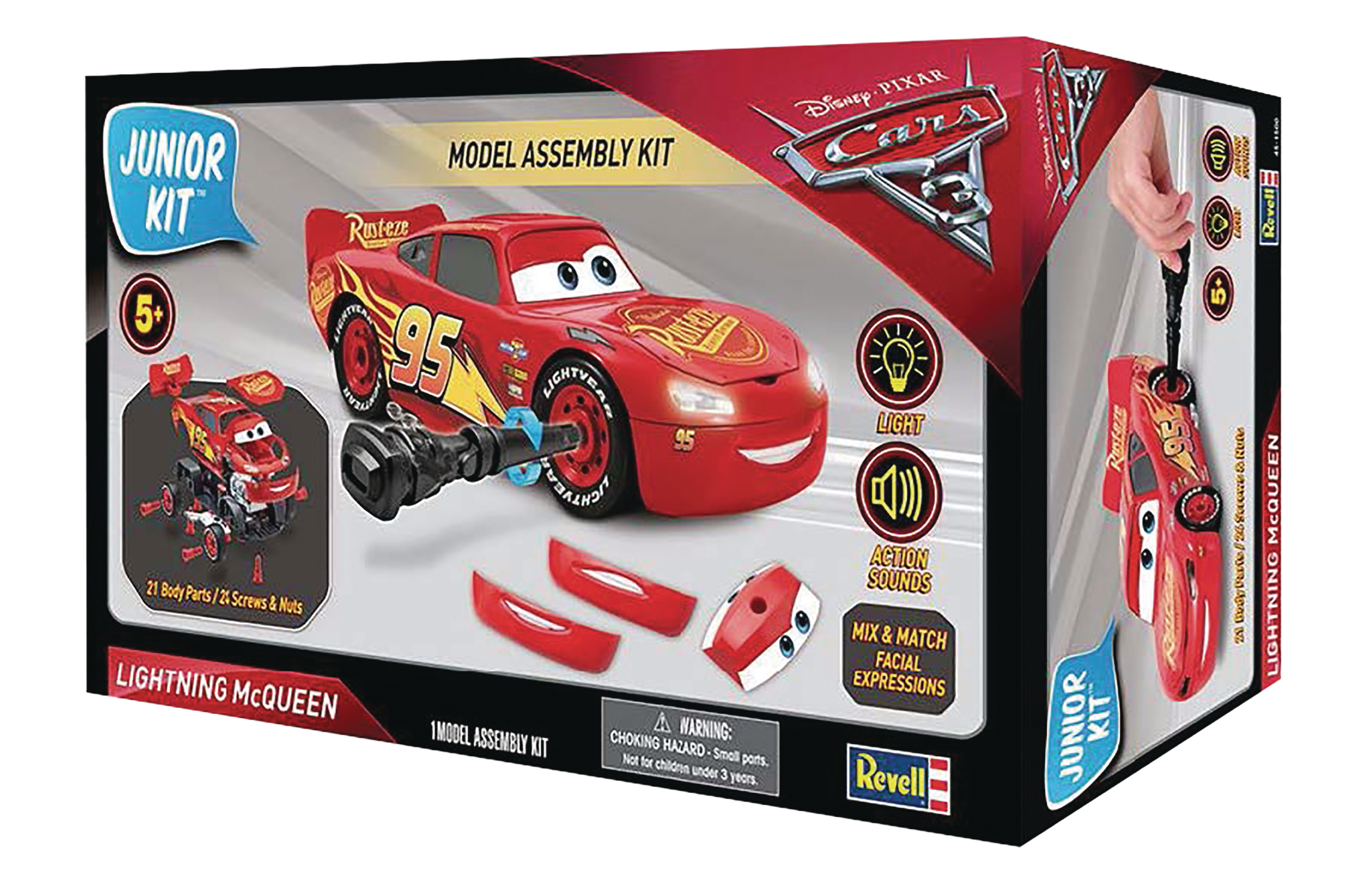 Cars 3 lightning mcqueen level 2 jr model assembly kit