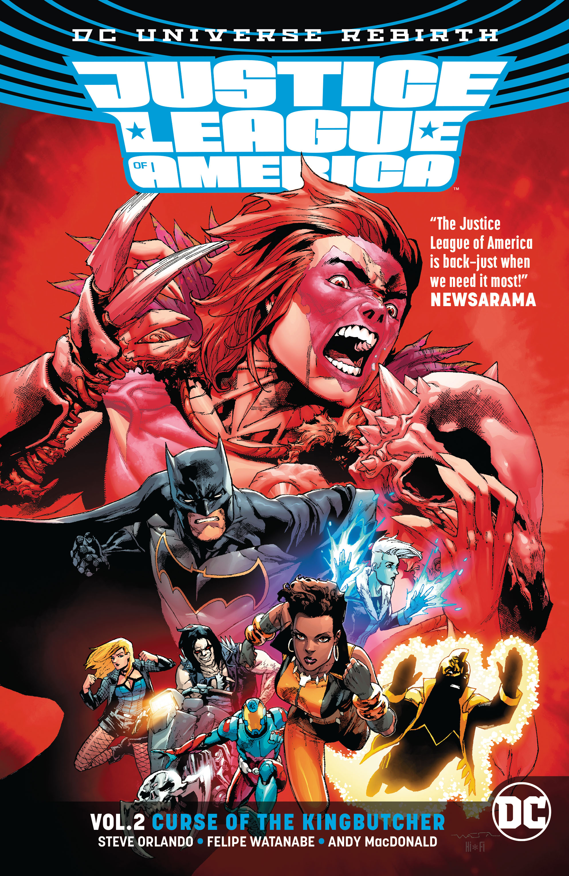 JUSTICE LEAGUE OF AMERICA TP VOL 02 KINGBUTCHER (REBIRTH)