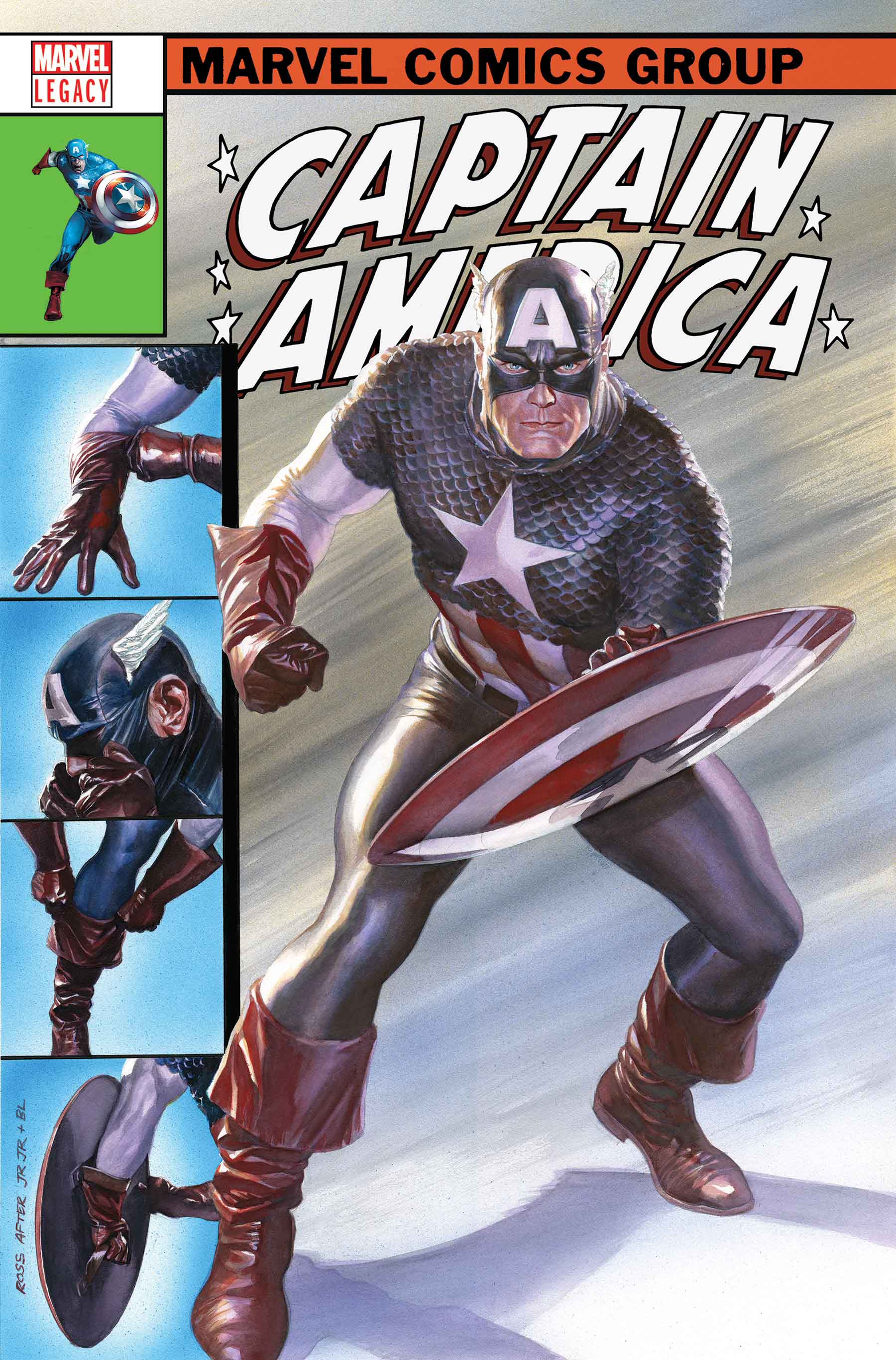 CAPTAIN AMERICA #695 BY ROSS POSTER