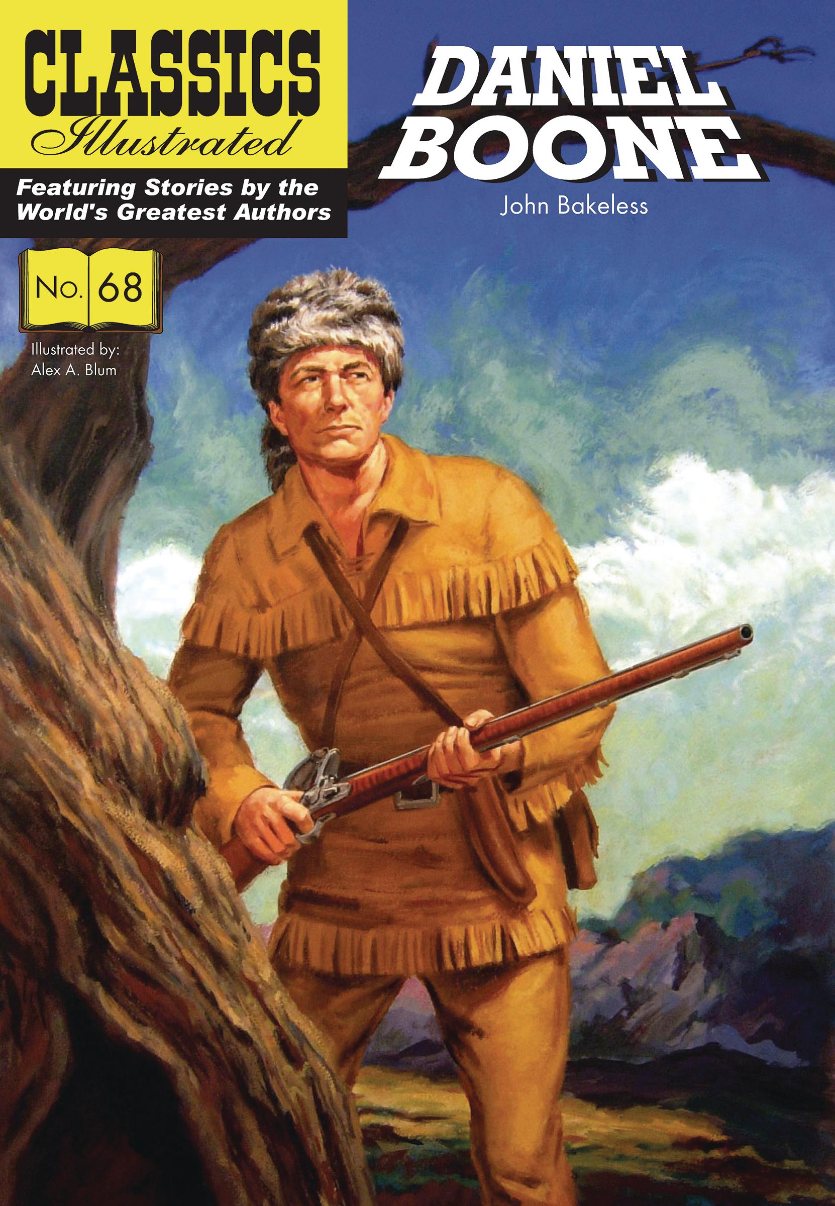 Classic Book Cover Uk ~ Sep classic illustrated tp daniel boone previews