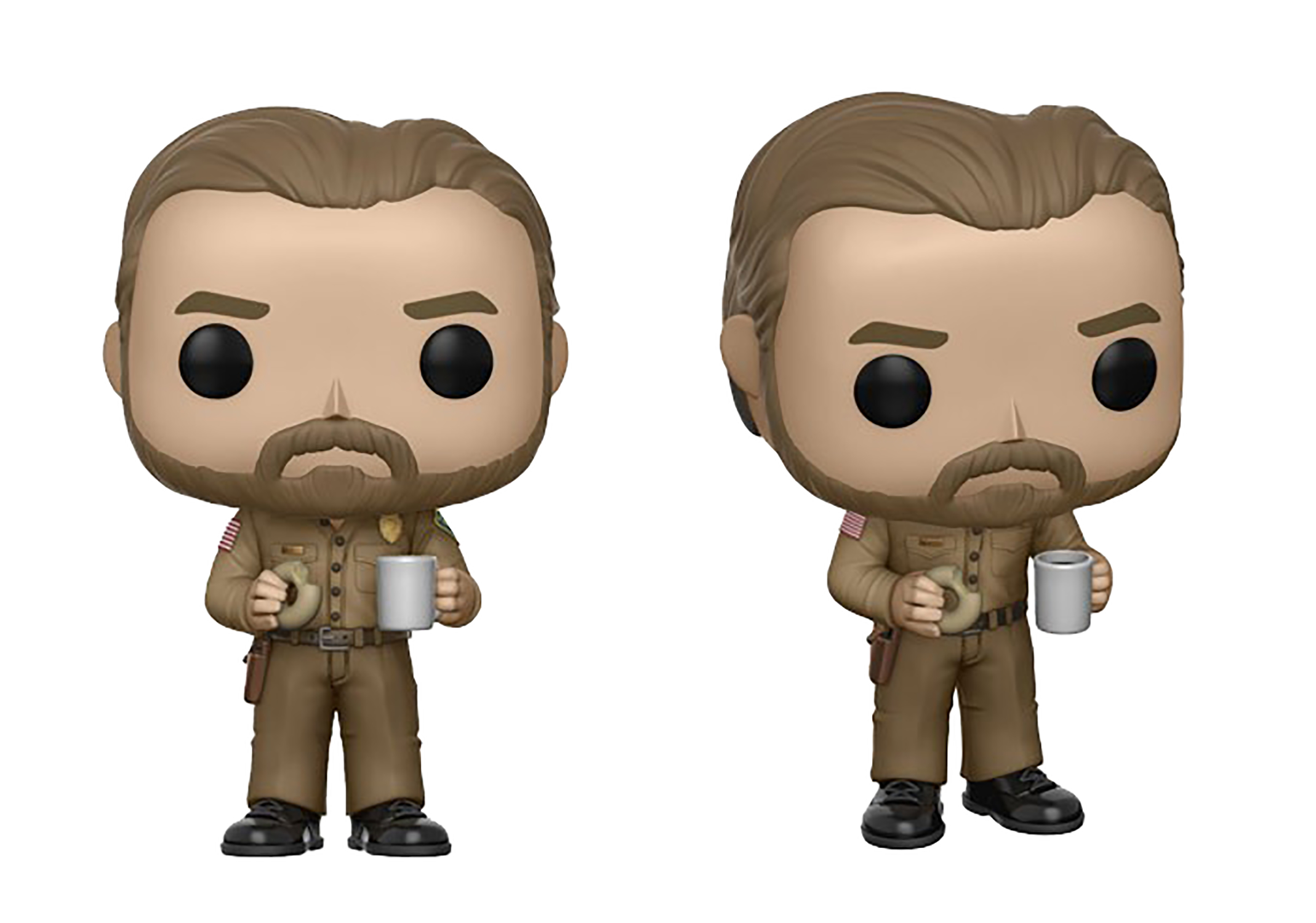 may178741 pop stranger things hopper with donut vinyl. Black Bedroom Furniture Sets. Home Design Ideas