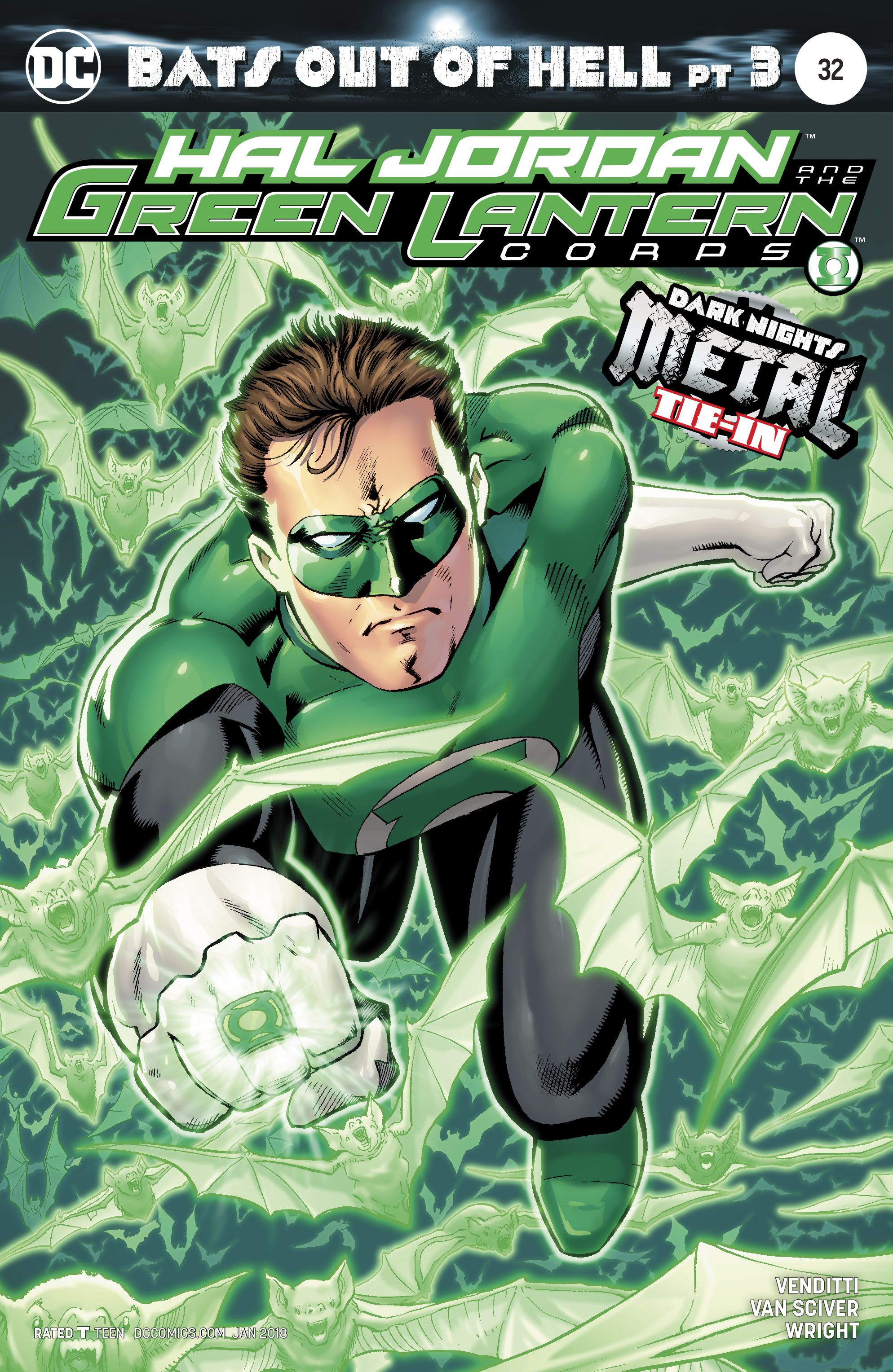 HAL JORDAN AND THE GREEN LANTERN CORPS #32 VAR ED METAL