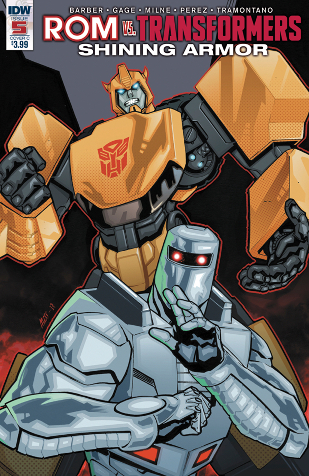 ROM VS TRANSFORMERS SHINING ARMOR #5 CVR C MESSINA