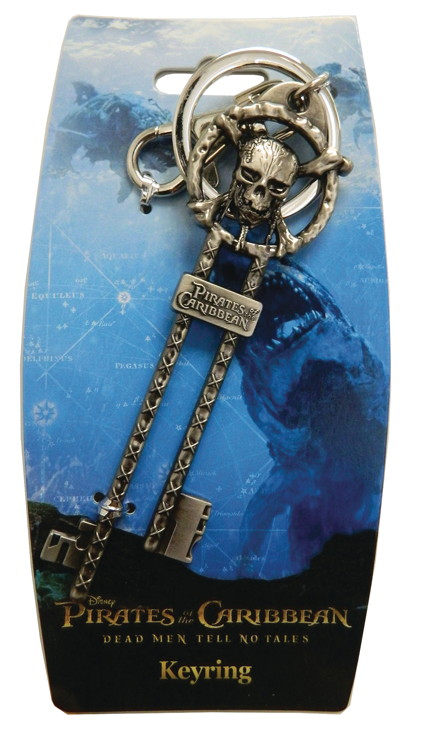 PIRATES OF THE CARIBBEAN MASTER KEY PEWTER KEY RING