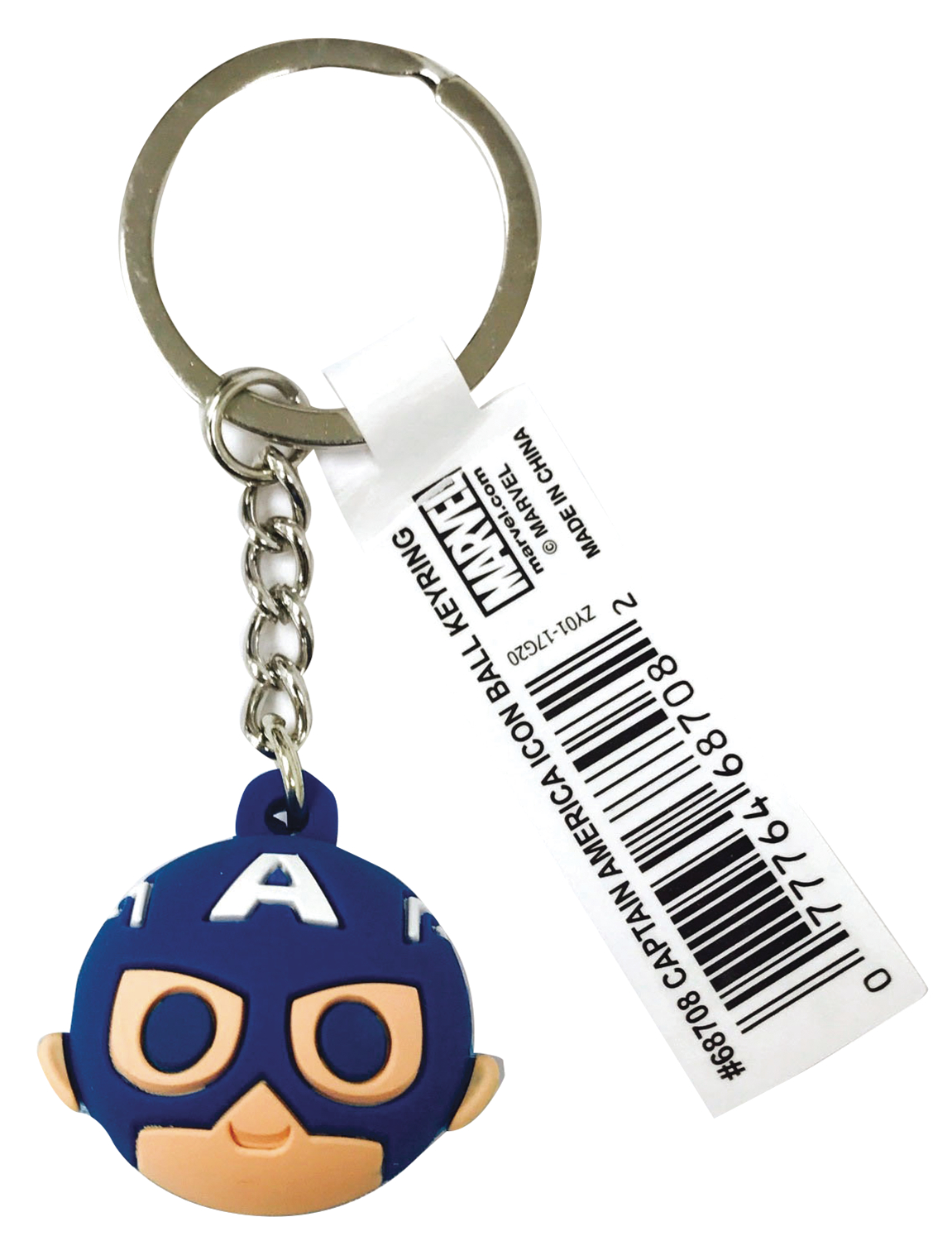 MARVEL CAPTAIN AMERICA ICON BALL KEY RING