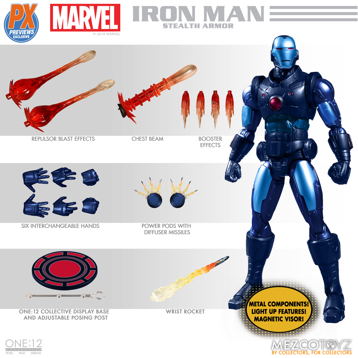 ONE-12 COLLECTIVE MARVEL PX IRON MAN STEALTH ARMOR AF