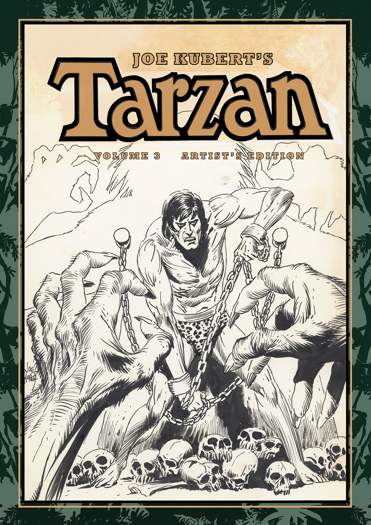 JOE KUBERT TARZAN AND THE LION MAN ARTIST ED HC