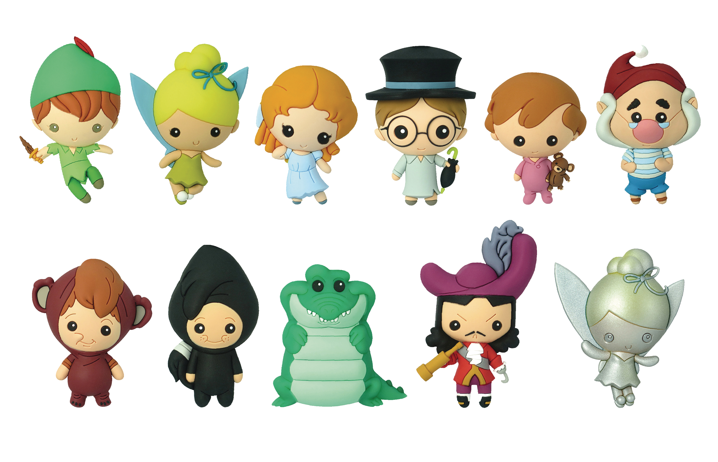 DISNEY PETER PAN CUT FIGURAL KEYRING 24PC BMB DS