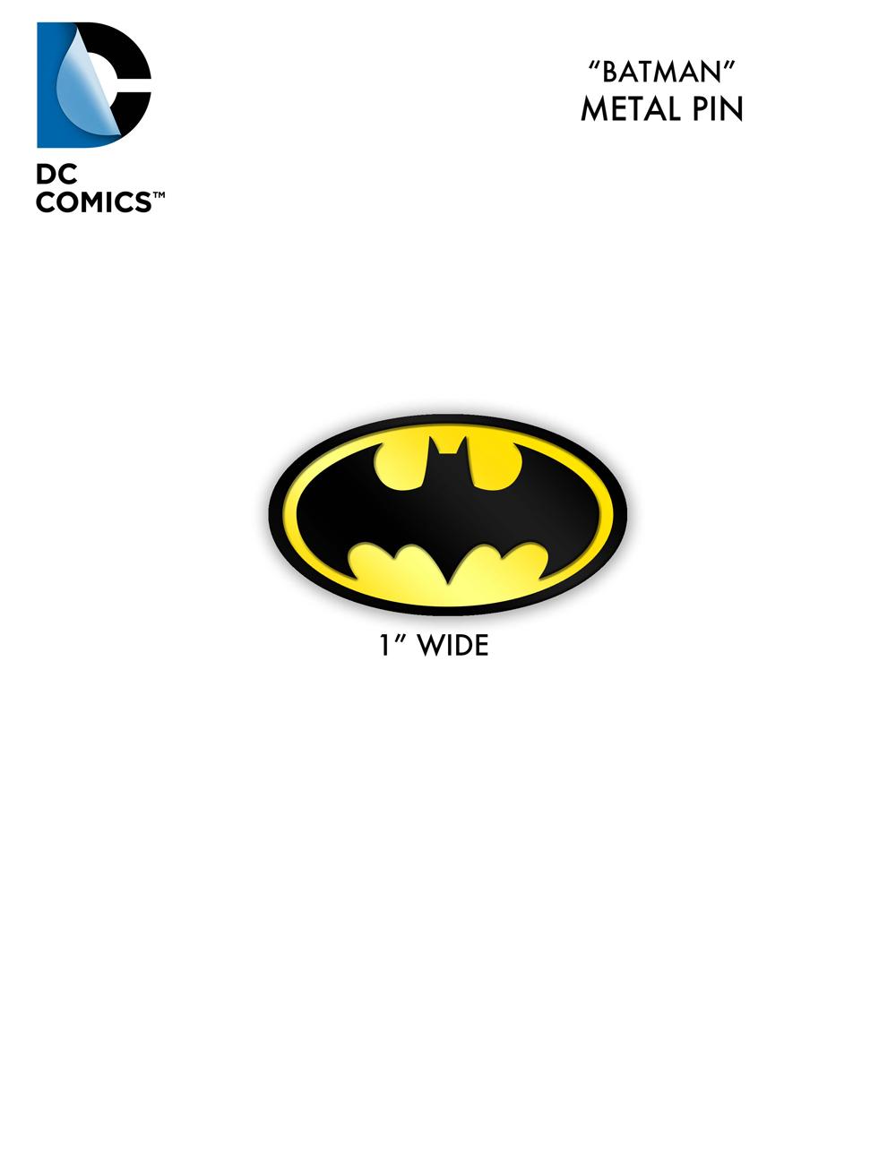 Oct170014 Fcbd 2018 Dc Comics Batman Symbol Metal Pins 50 Ct Bag
