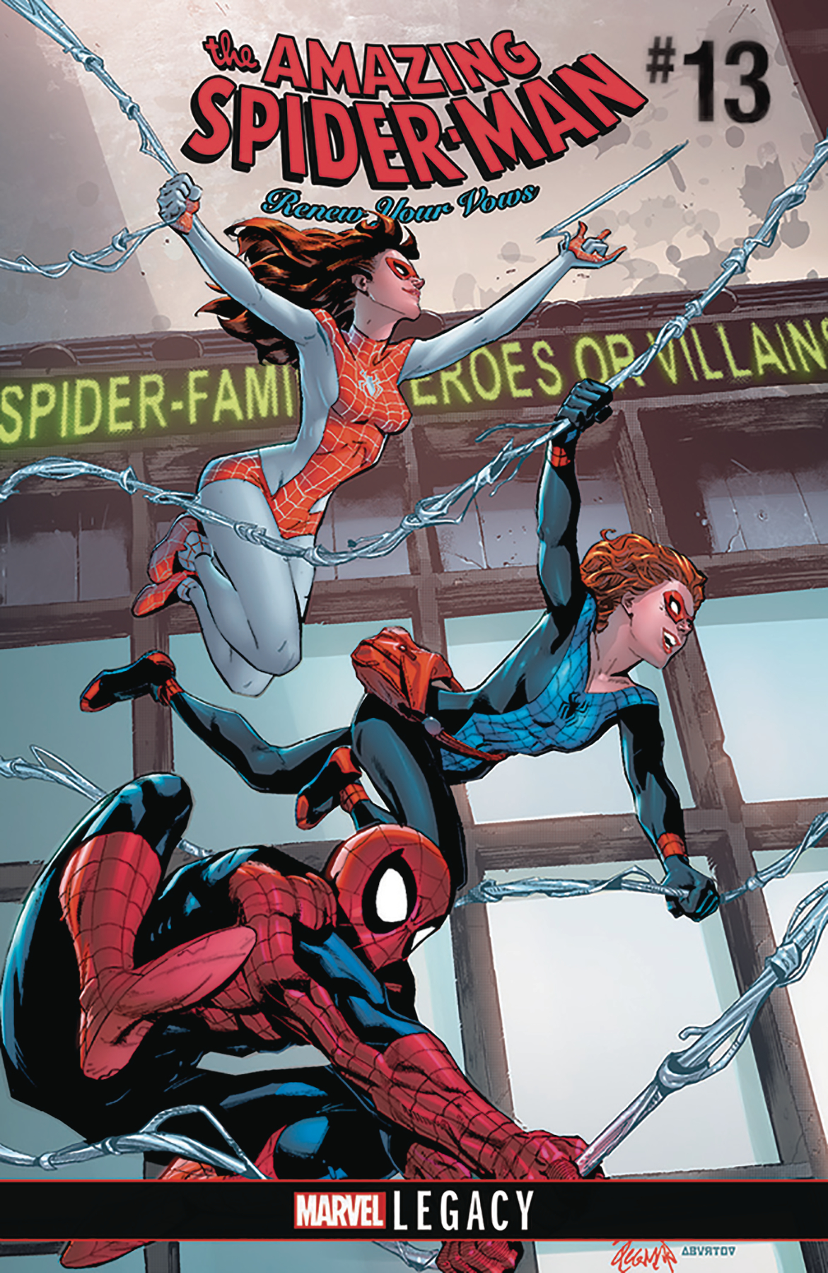DF AMAZING SPIDER-MAN RENEW YOUR VOWS #13 LEE SGN