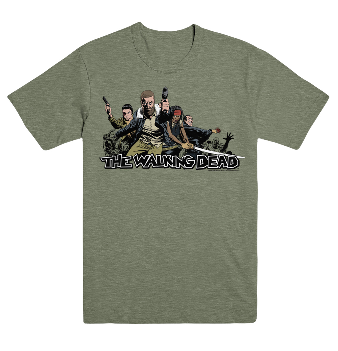 WALKING DEAD 2017 ENSEMBLE LG T/S