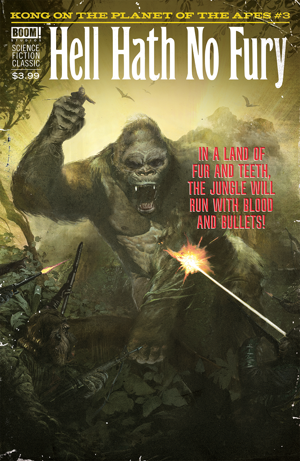 KONG ON PLANET OF APES #3 CLASSIC PULP DALTON VAR