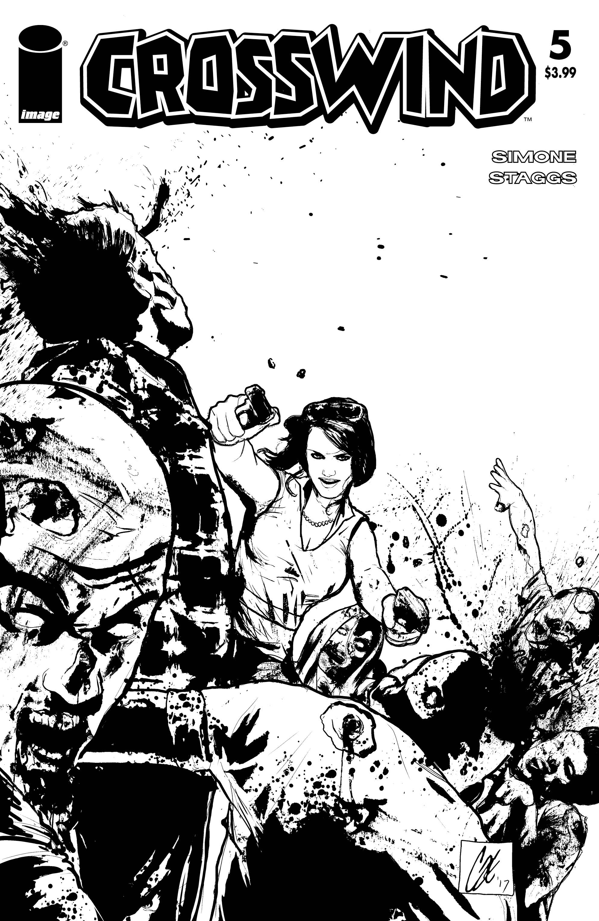 CROSSWIND #5 CVR D B&W WALKING DEAD #54 TRIBUTE VAR