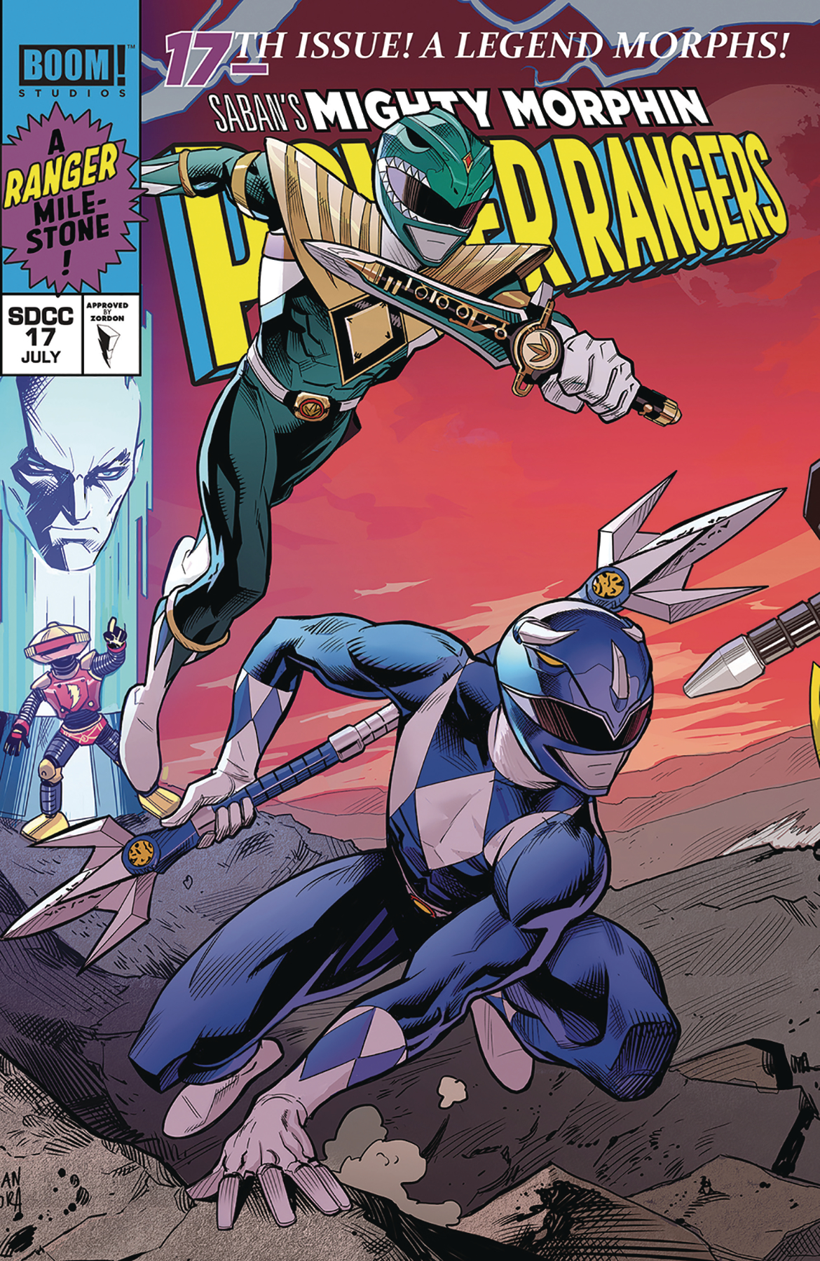 MIGHTY MORPHIN POWER RANGERS #17 MORA SDCC EXCL VAR