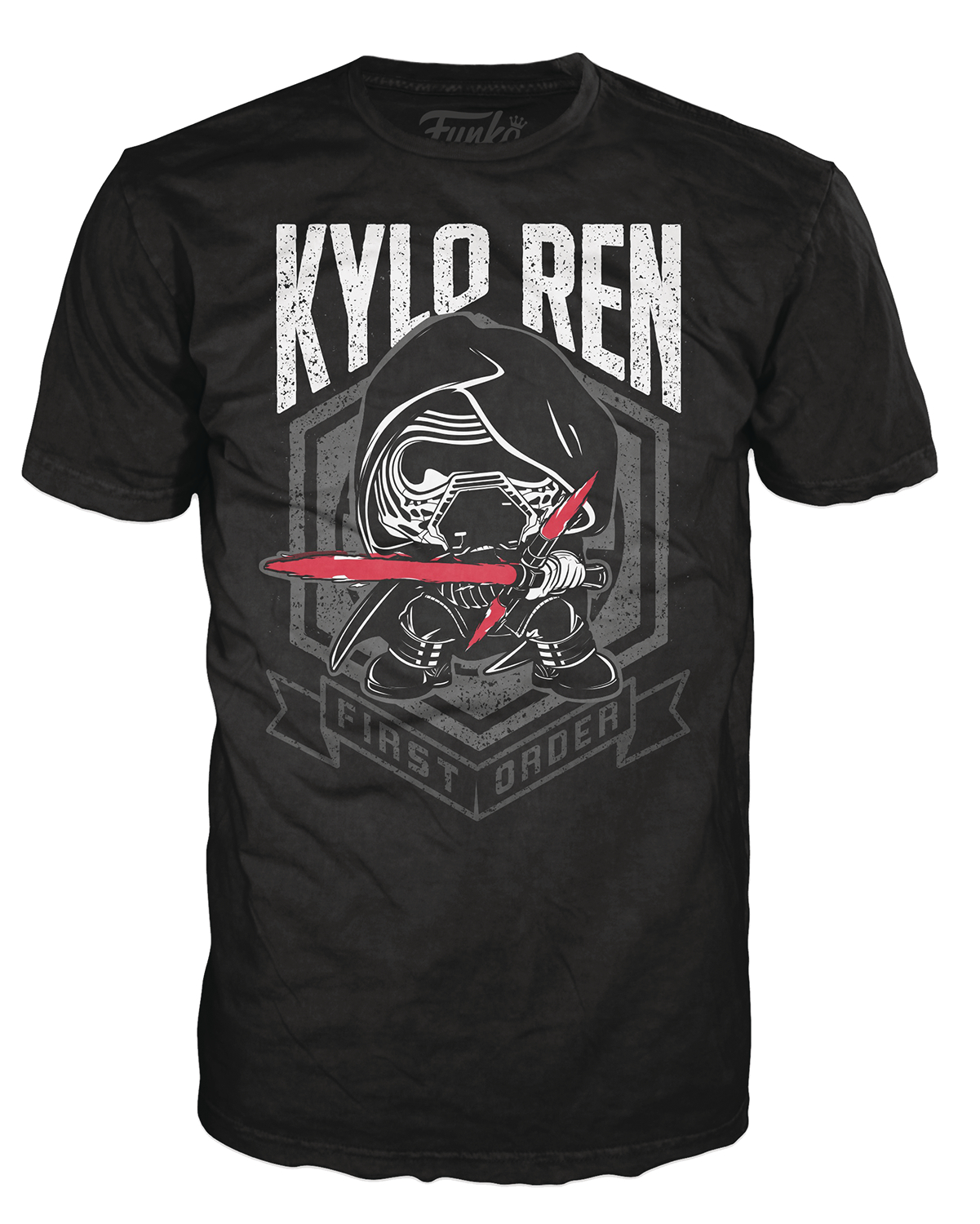 POP TEES KYLO REN FIRST ORDER BLACK T/S MED