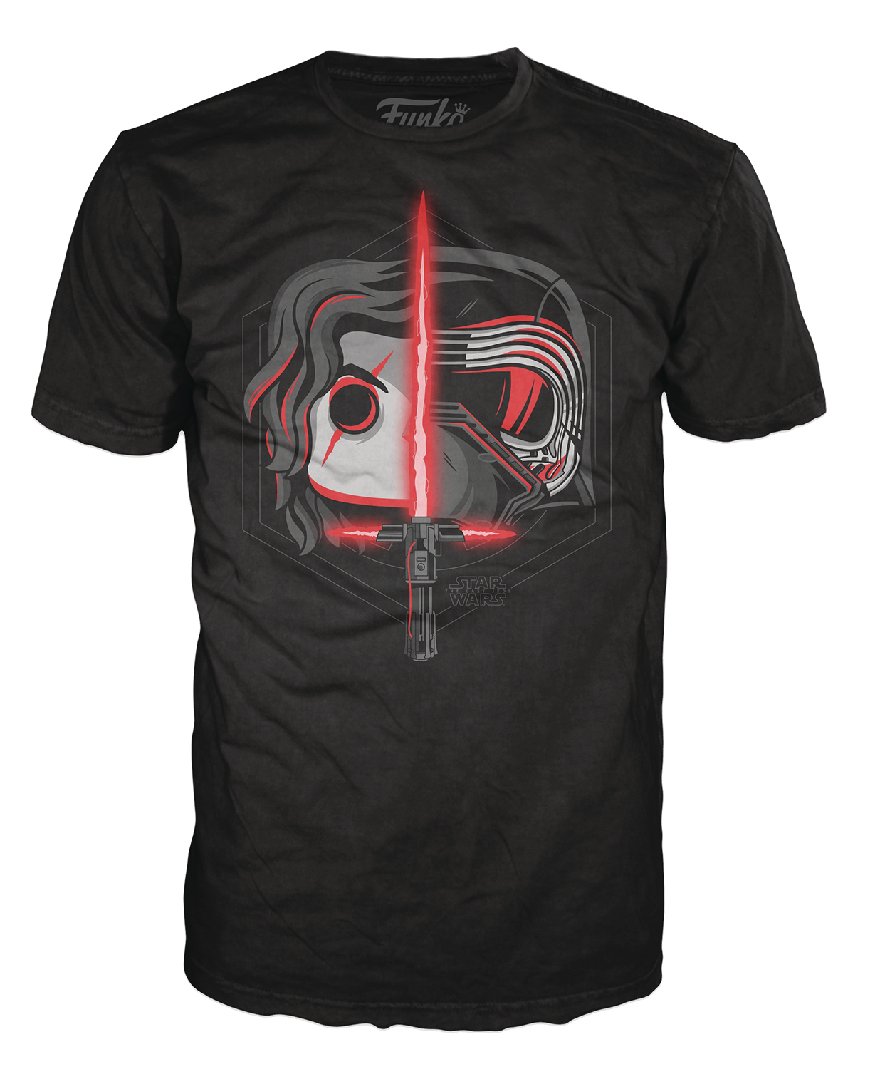 POP TEES KYLO REN HEAD SPLIT T/S SM