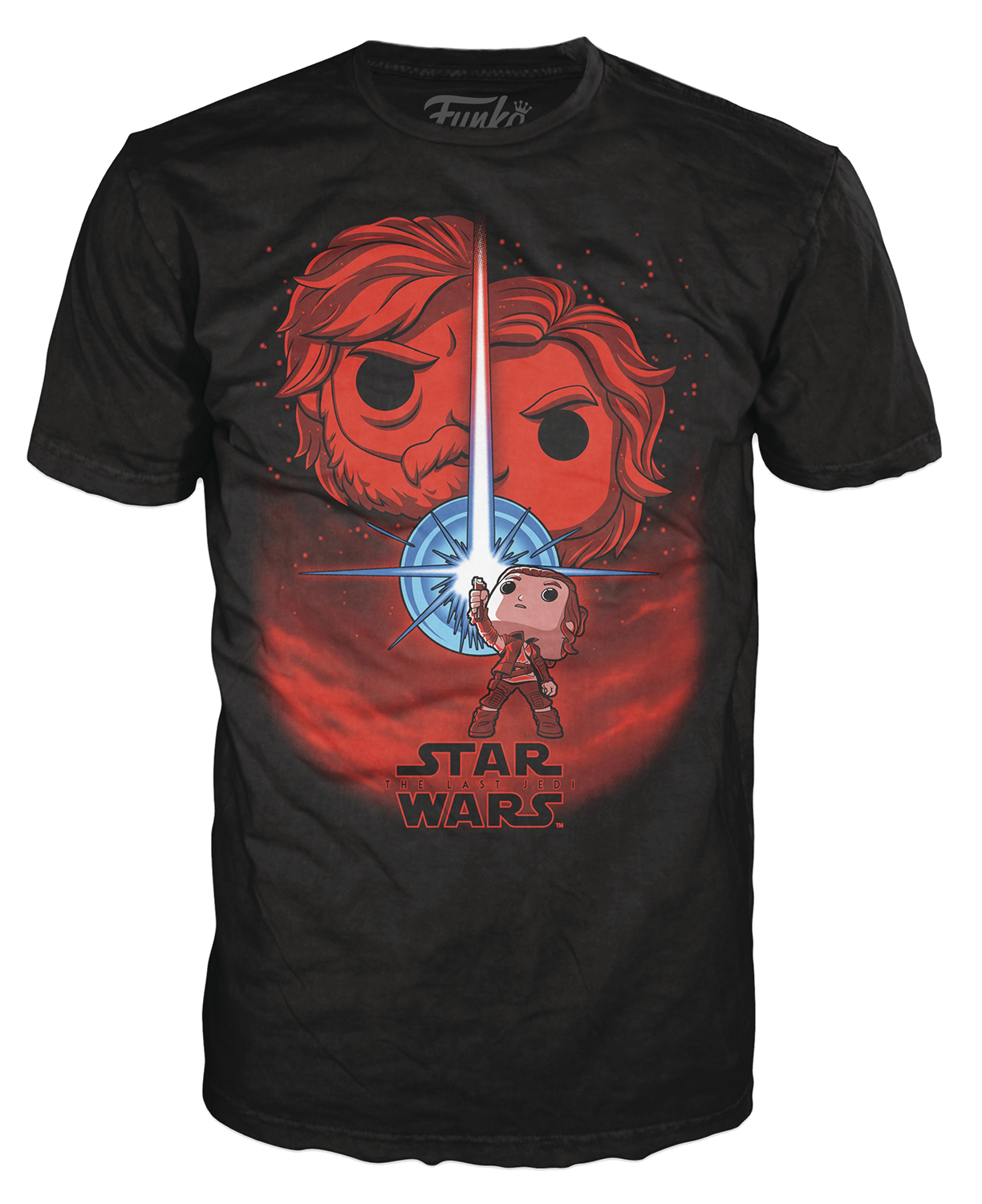 POP TEES THE LAST JEDI BLACK T/S MED