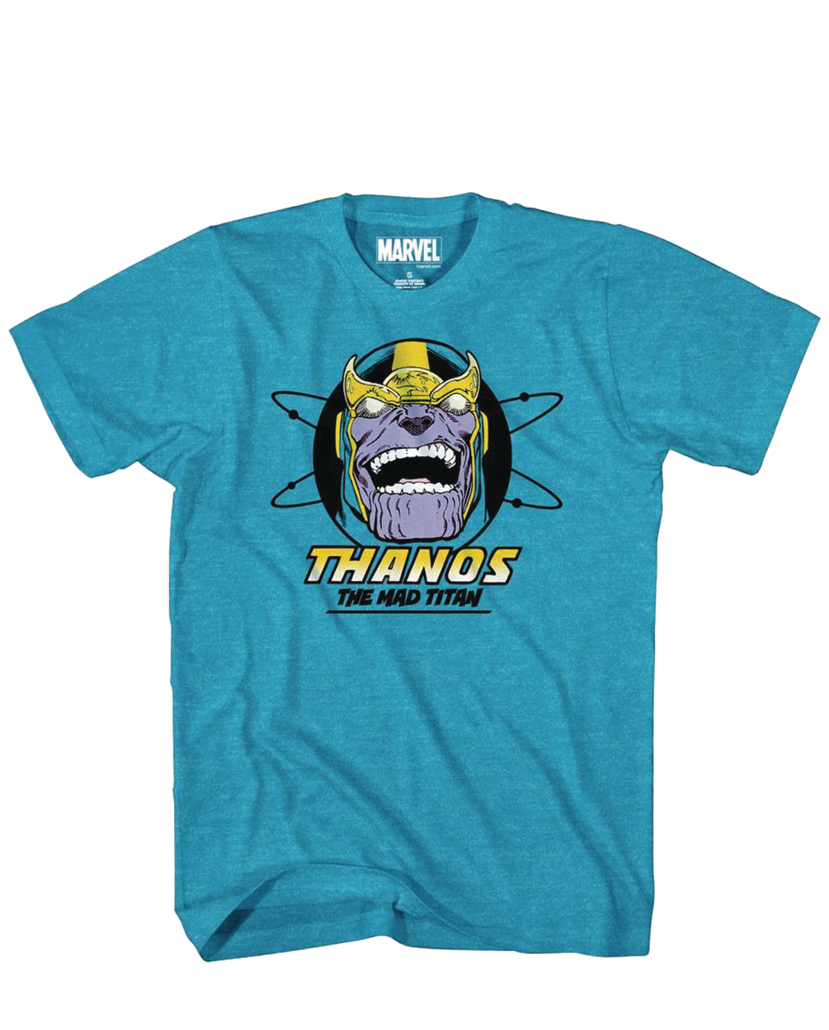 MARVEL THANOS TEETH PX SAPPHIRE HEATHER T/S SM