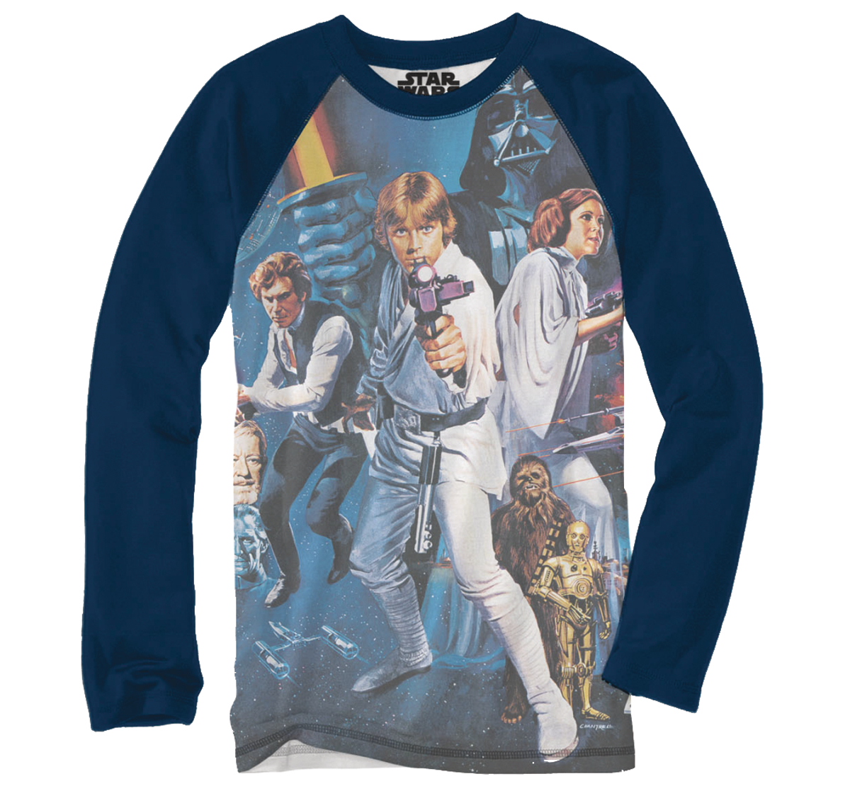 SW JUMBO POSTER NAVY LONG SLEEVE T/S XL