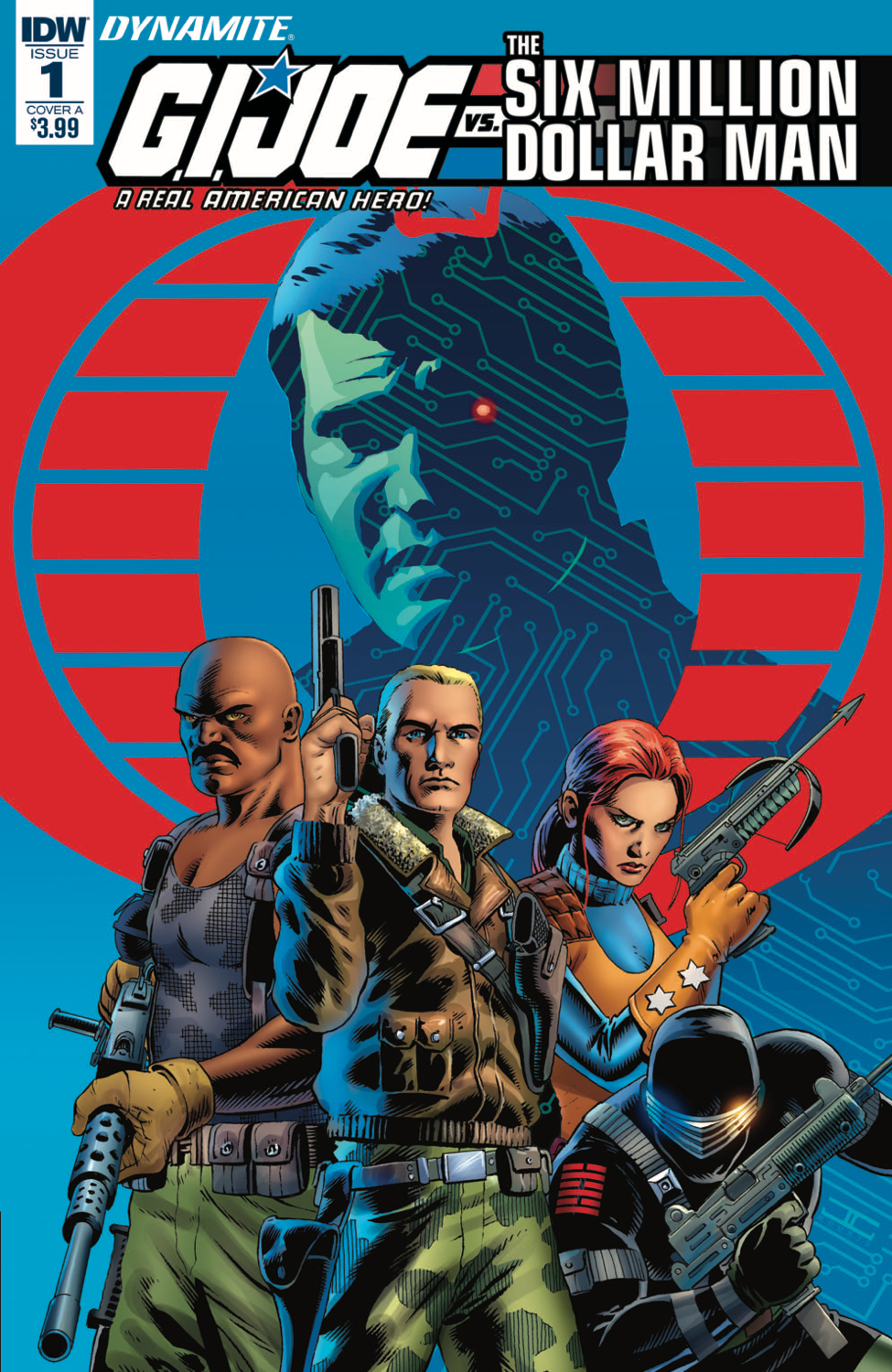 GI JOE VS SIX MILLION DOLLAR MAN #1 CVR A CASSADAY